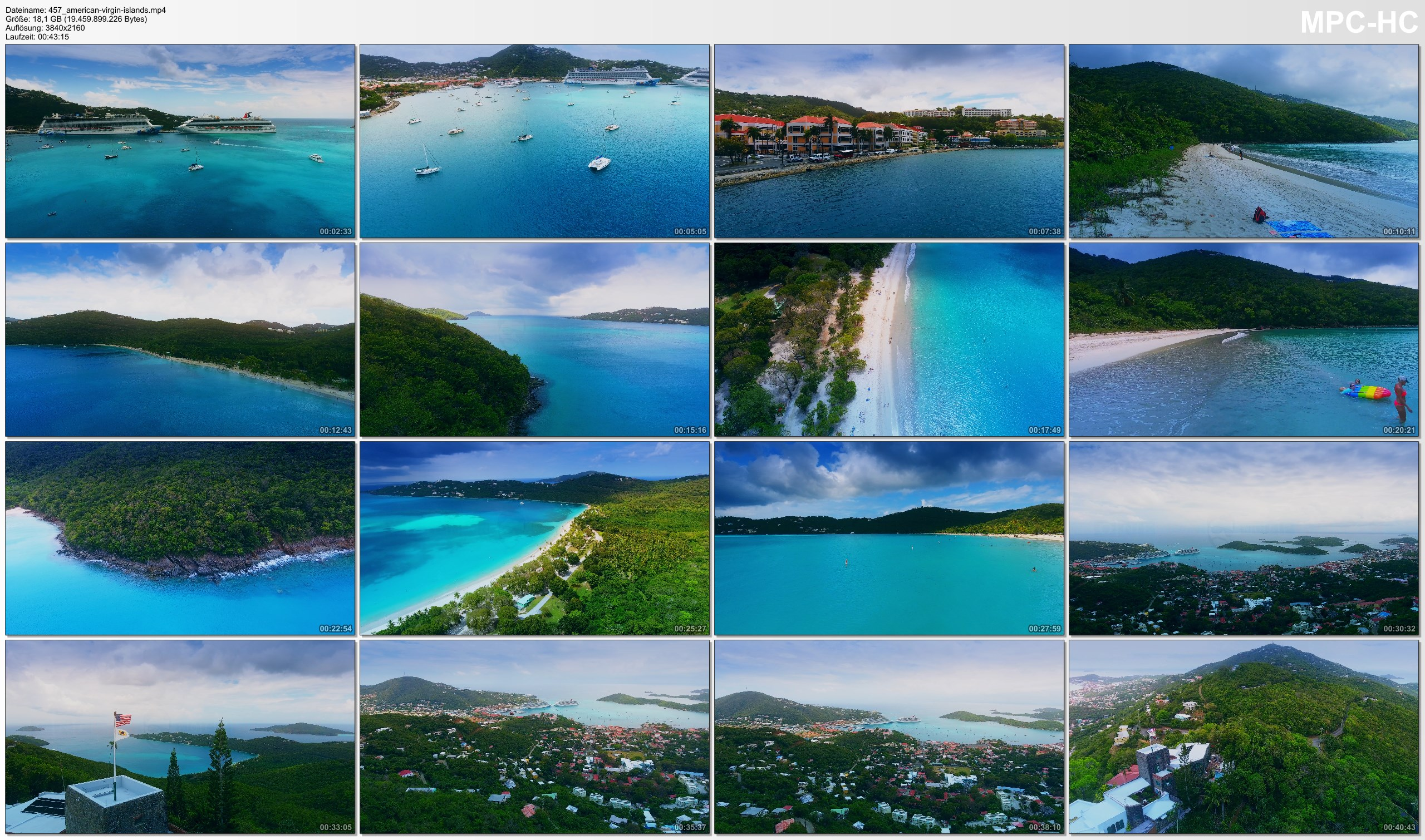 Drone Pictures from Video 【4K】Drone RAW Footage | These are the AMERICAN VIRGIN ISLANDS 2020 | U.S. Thomas UltraHD Stock Video