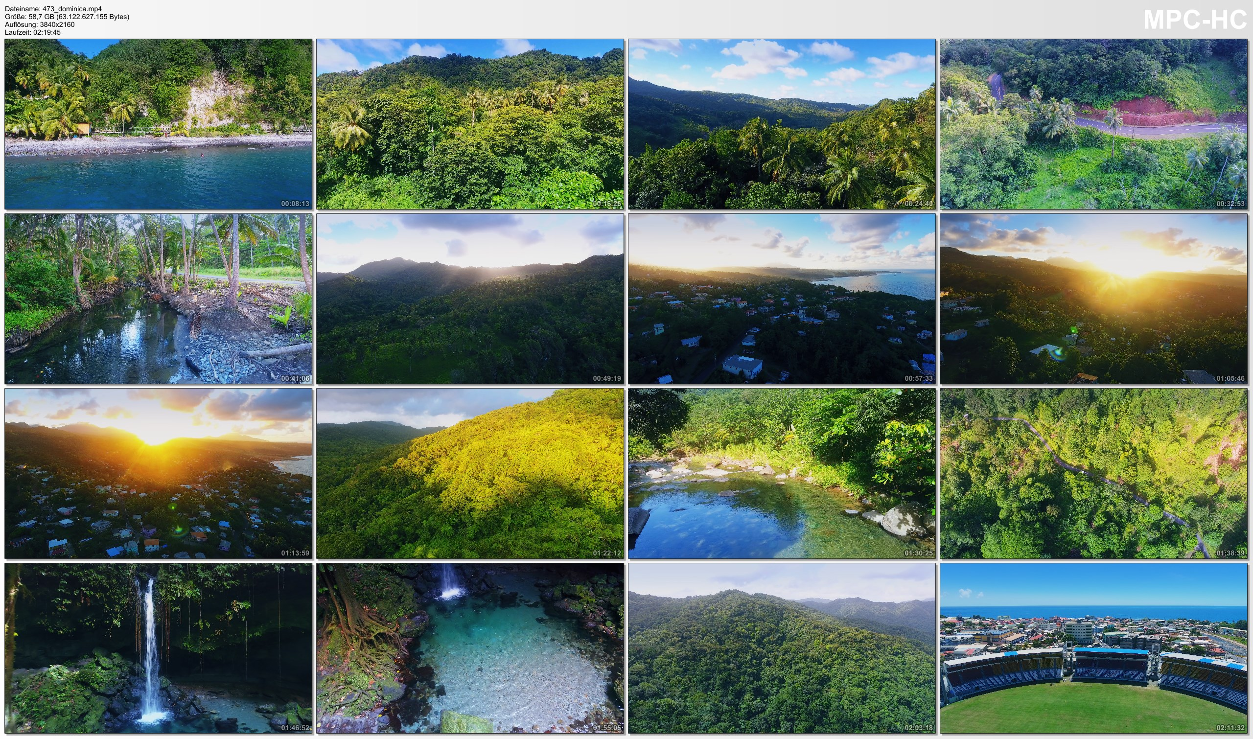 Drone Pictures from Video 【4K】Drone RAW Footage | This is DOMINICA 2020 | Caribbean | Roseau and More | UltraHD Stock Video