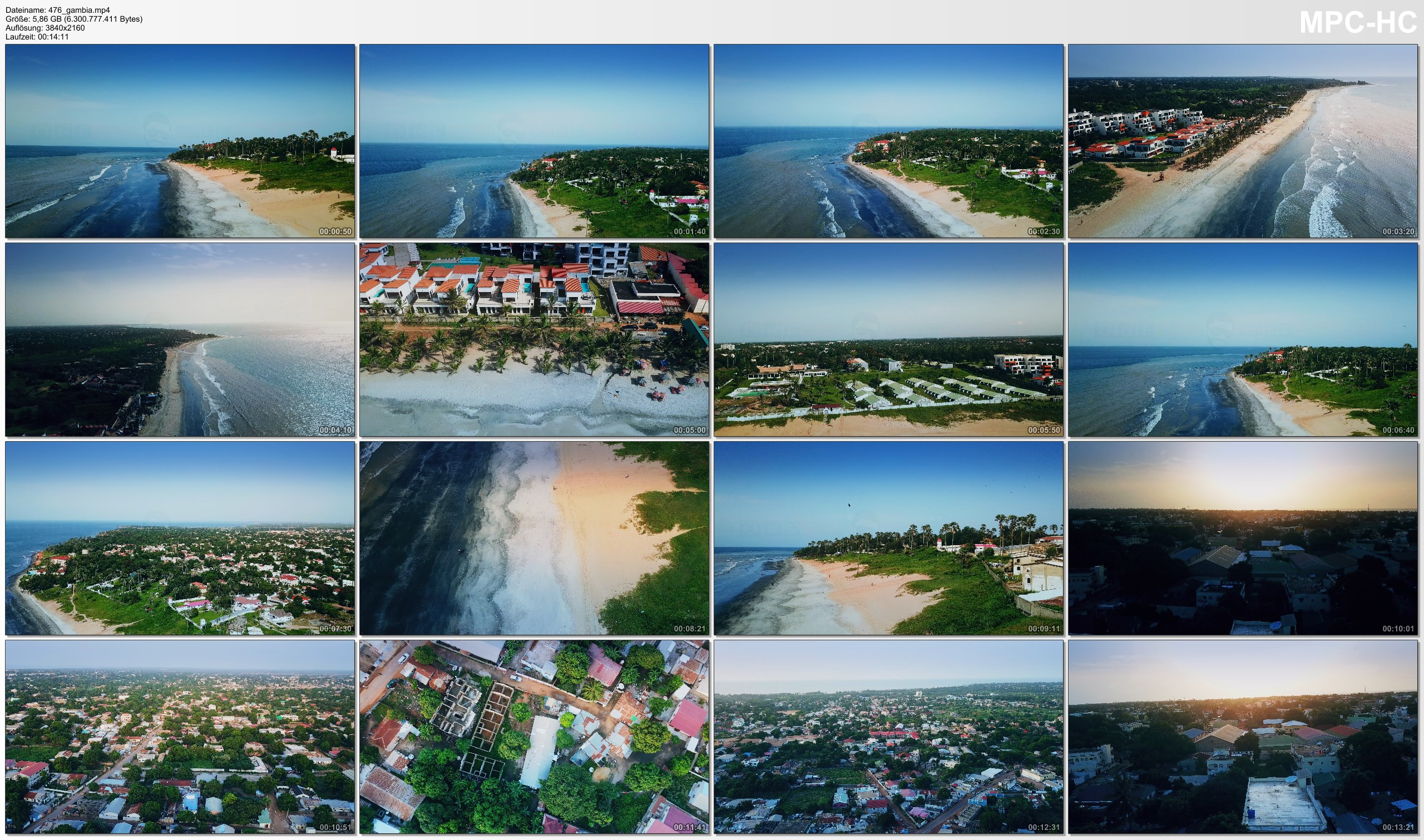 Drone Pictures from Video 【4K】Drone RAW Footage | This is GAMBIA 2020 | Serekunda Banjul | UltraHD Stock Video