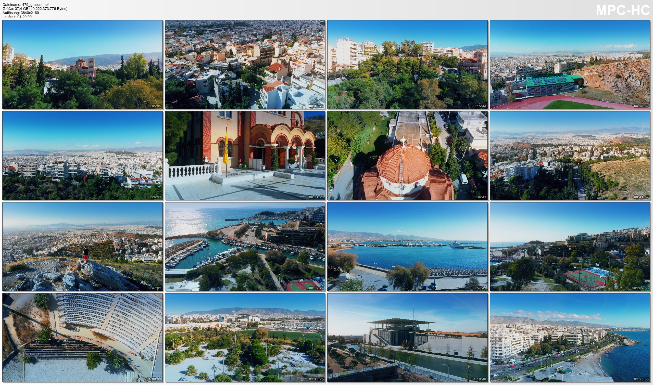 Drone Pictures from Video 【4K】Drone RAW Footage | This is GREECE 2020 | Capital City Athens | UltraHD Stock Video