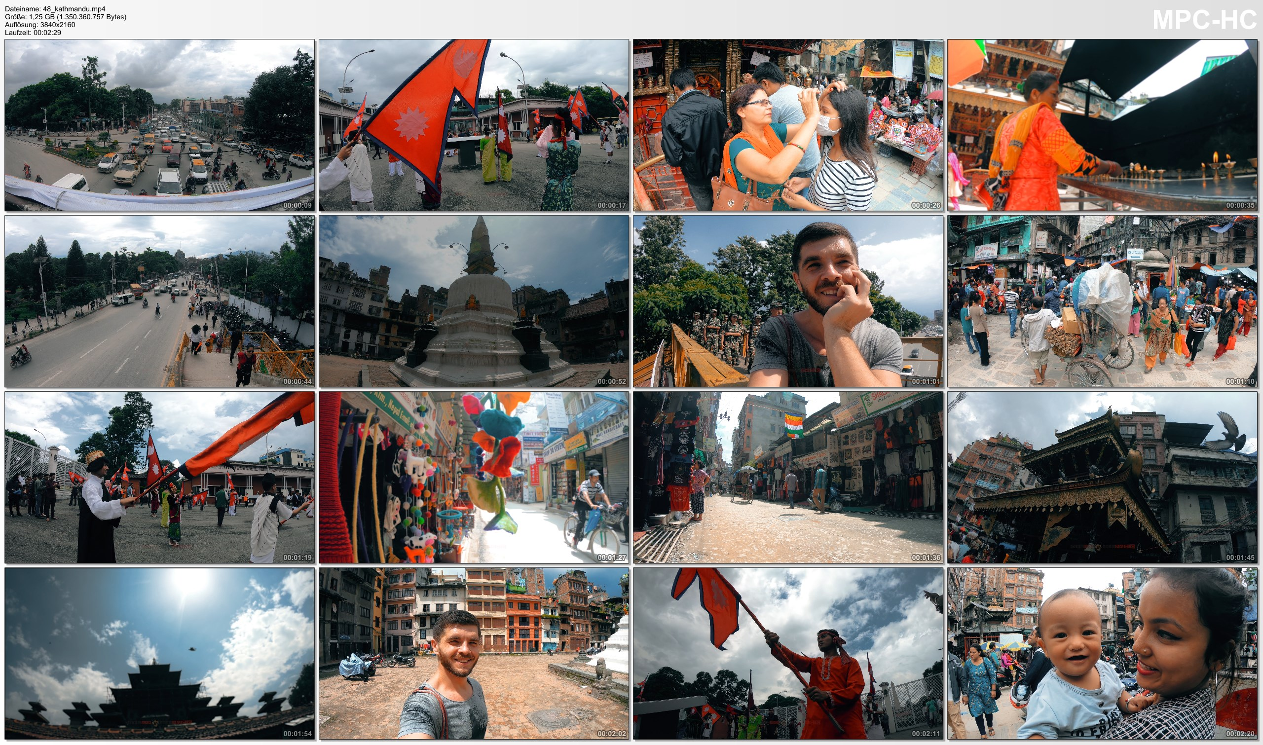 Pictures from Video 【4K】Footage | One day in KATHMANDU ..:: Beautiful NEPAL 2018