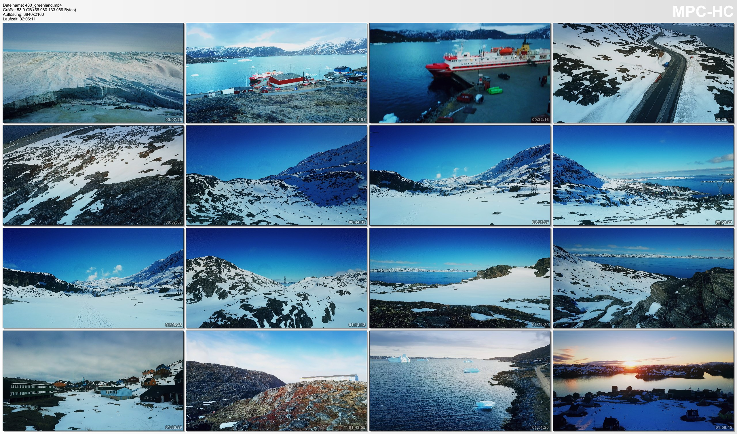 Drone Pictures from Video 【4K】Drone RAW Footage | This is GREENLAND 2020 | Nuuk | Qaqortoq and More | UltraHD Stock Video