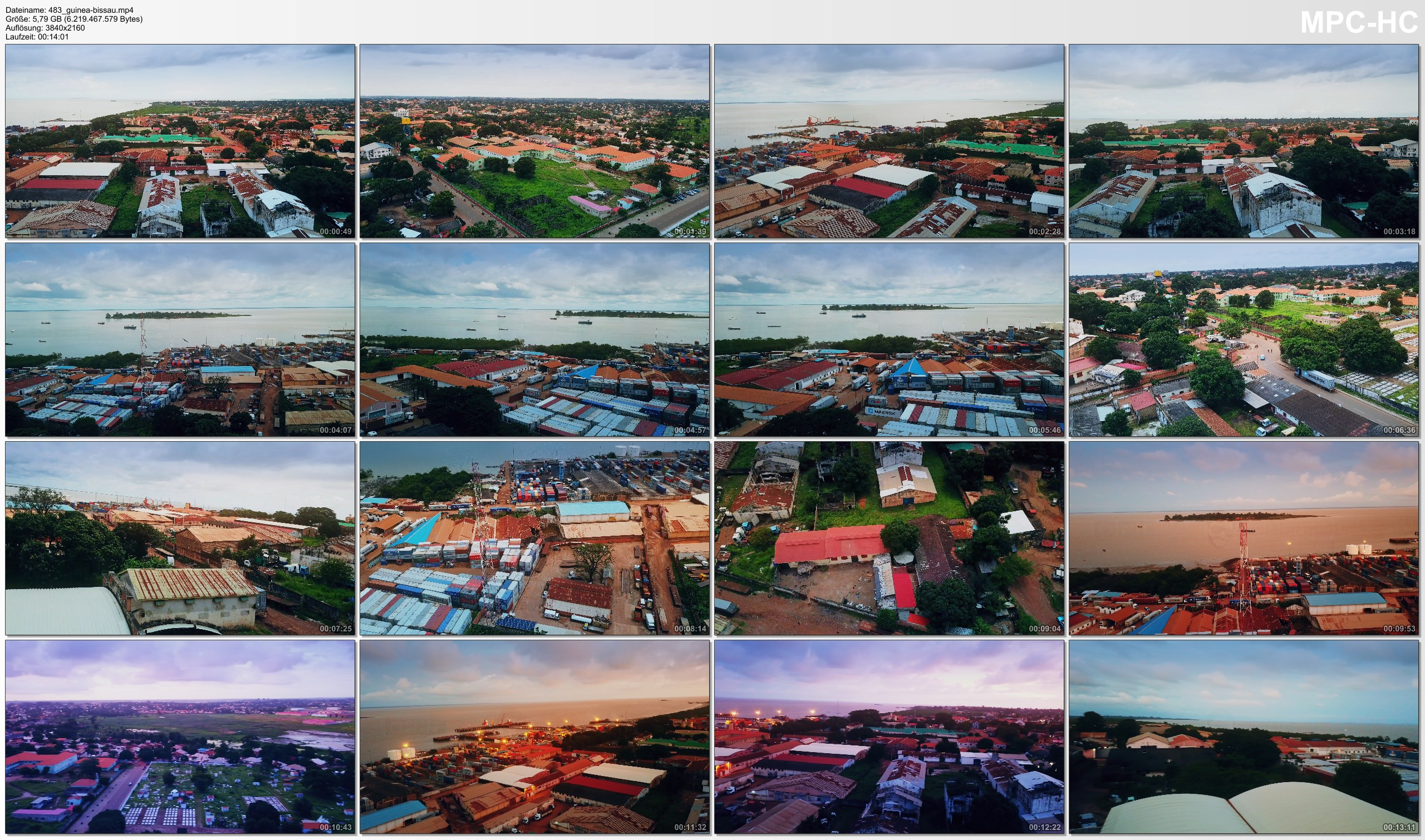 Drone Pictures from Video 【4K】Drone RAW Footage | This is GUINEA-BISSAU 2020 | Capital City Bissau | UltraHD Stock Video