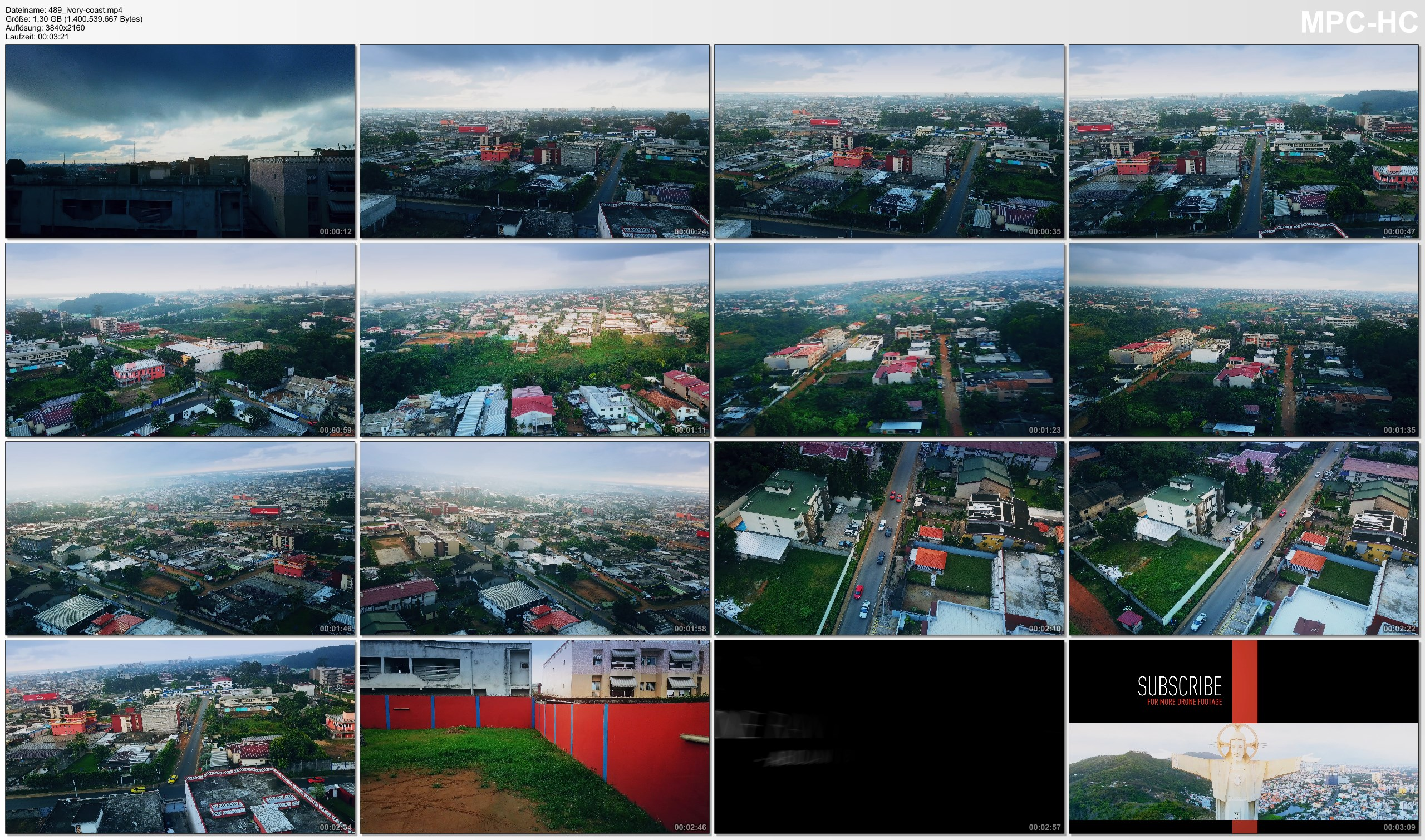 Drone Pictures from Video 【4K】Drone RAW Footage | This is IVORY COAST 2020 | Capital City Abidjan | UltraHD Stock Video
