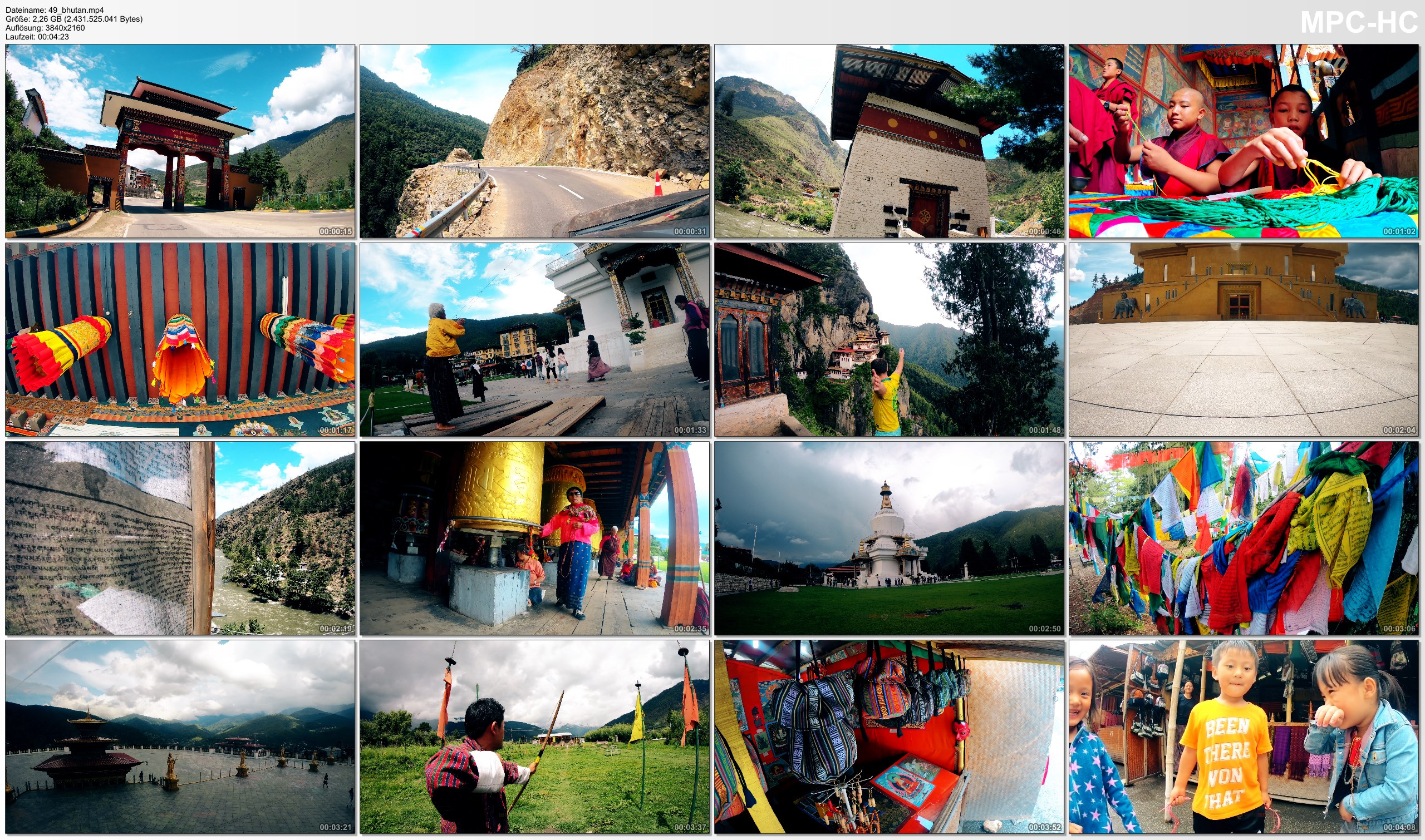 Pictures from Video 【4K】Footage | One week in BHUTAN ..:: The Kingdom of Happiness 2018