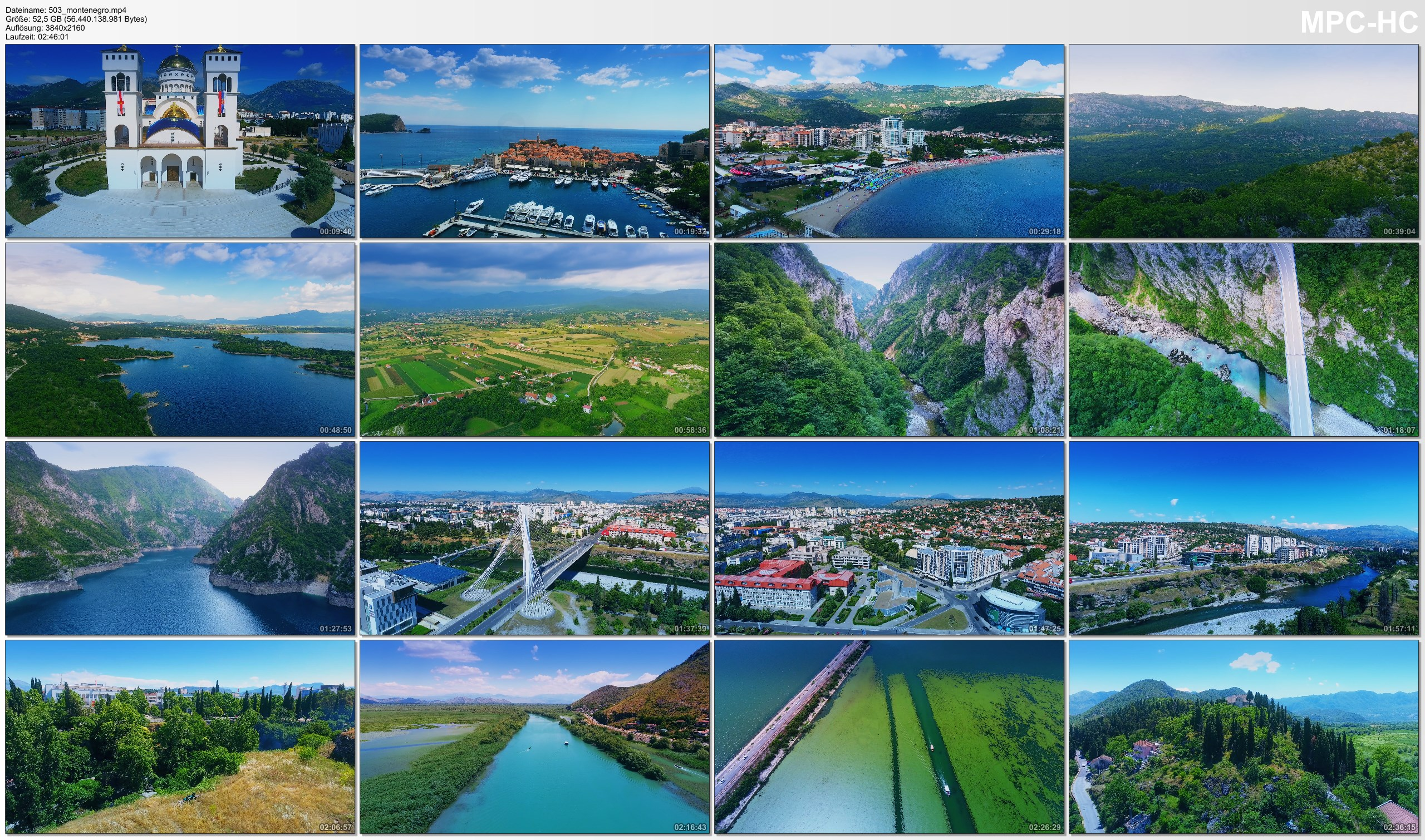 Drone Pictures from Video 【4K】Drone RAW Footage | This is MONTENEGRO 2020 | Podgorica | Budva and More | UltraHD Stock Video