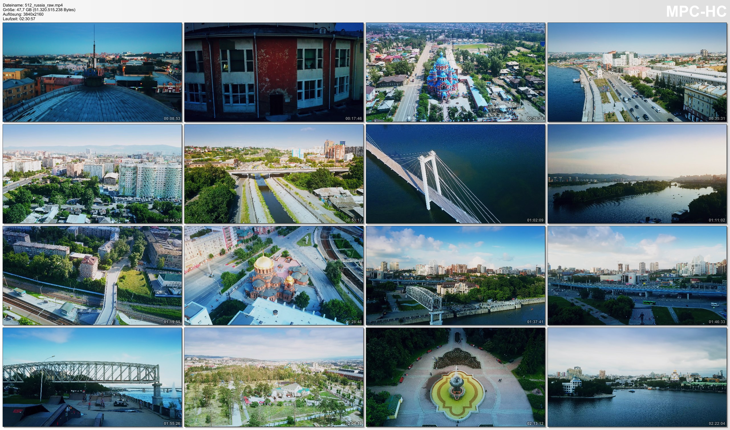 Drone Pictures from Video 【4K】Drone RAW Footage | This is RUSSIA 2020 | Novosibirsk | Sibiria and More | UltraHD Stock Video