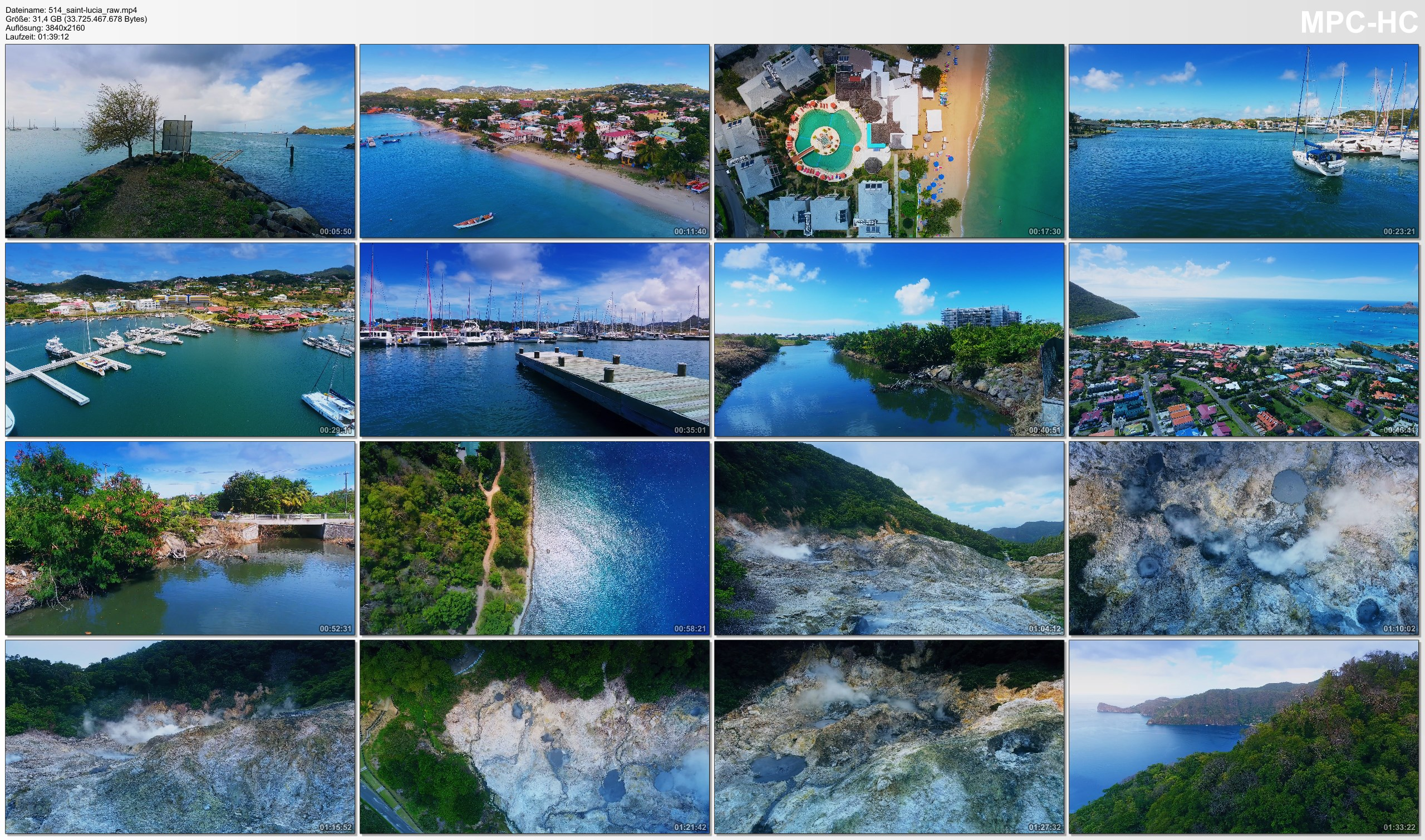 Drone Pictures from Video 【4K】Drone RAW Footage | This is SAINT LUCIA 2020 | Castries | Soufriere and More UltraHD Stock Video
