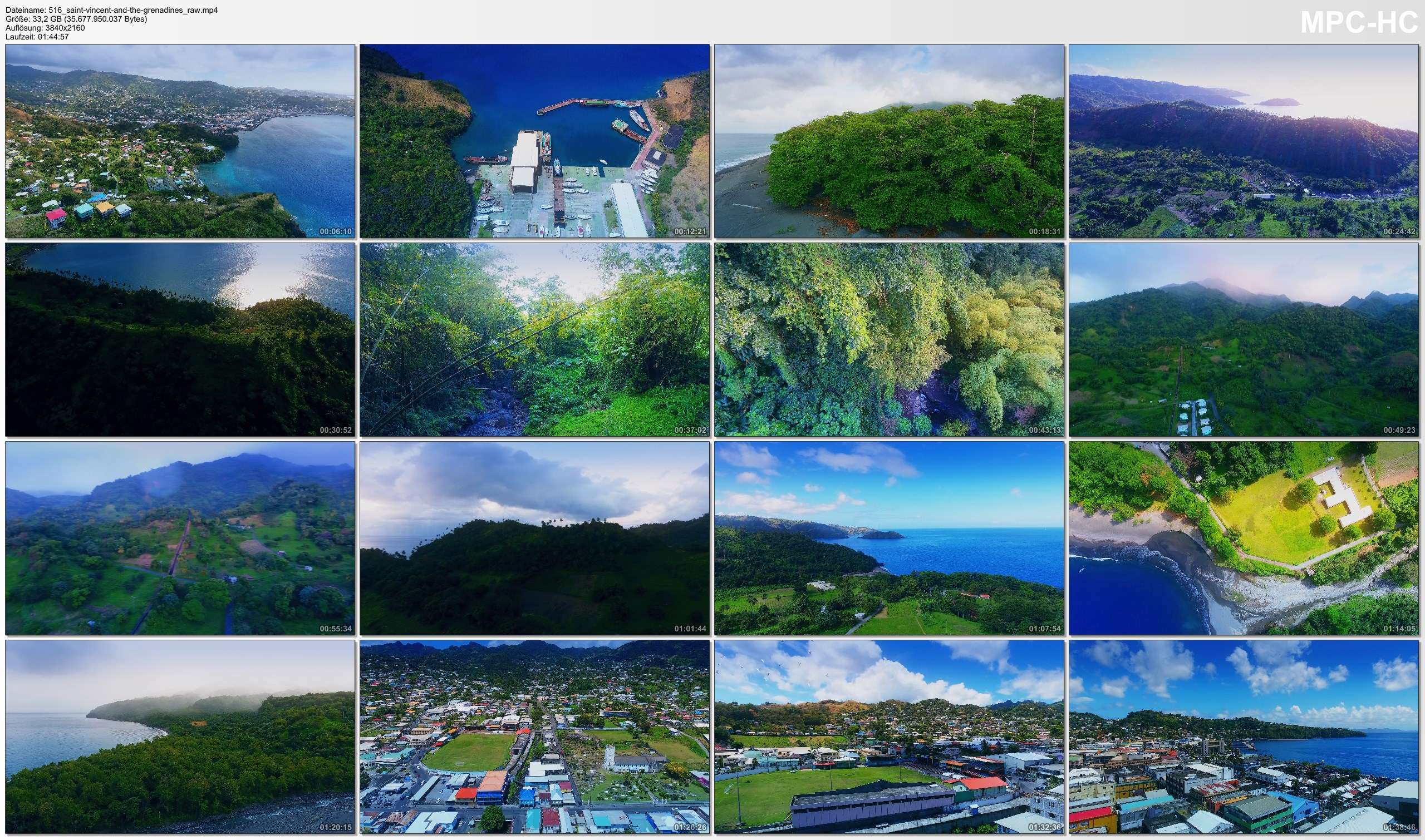Drone Pictures from Video 【4K】Drone RAW Footage | This is SAINT VINCENT AND THE GRENADINES 2020 | UltraHD Stock Video