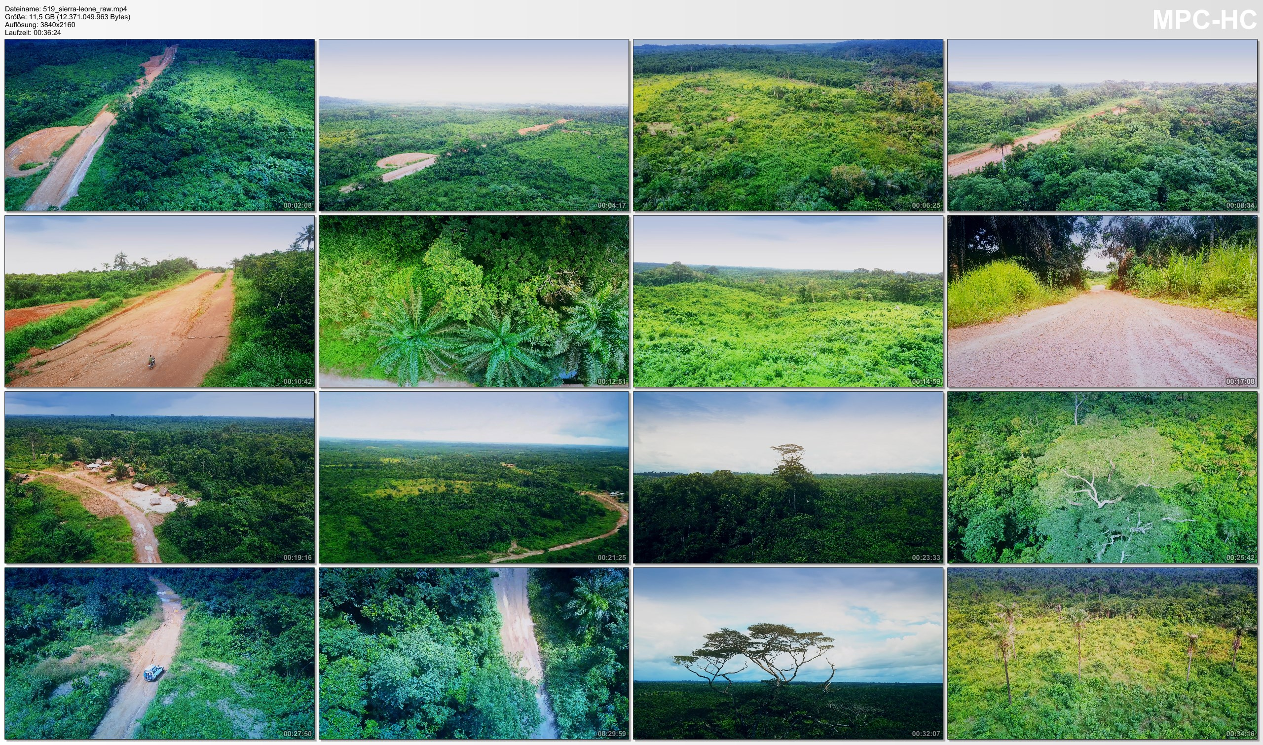 Drone Pictures from Video 【4K】Drone RAW Footage | This is SIERRA LEONE 2020 | West Africa | UltraHD Stock Video