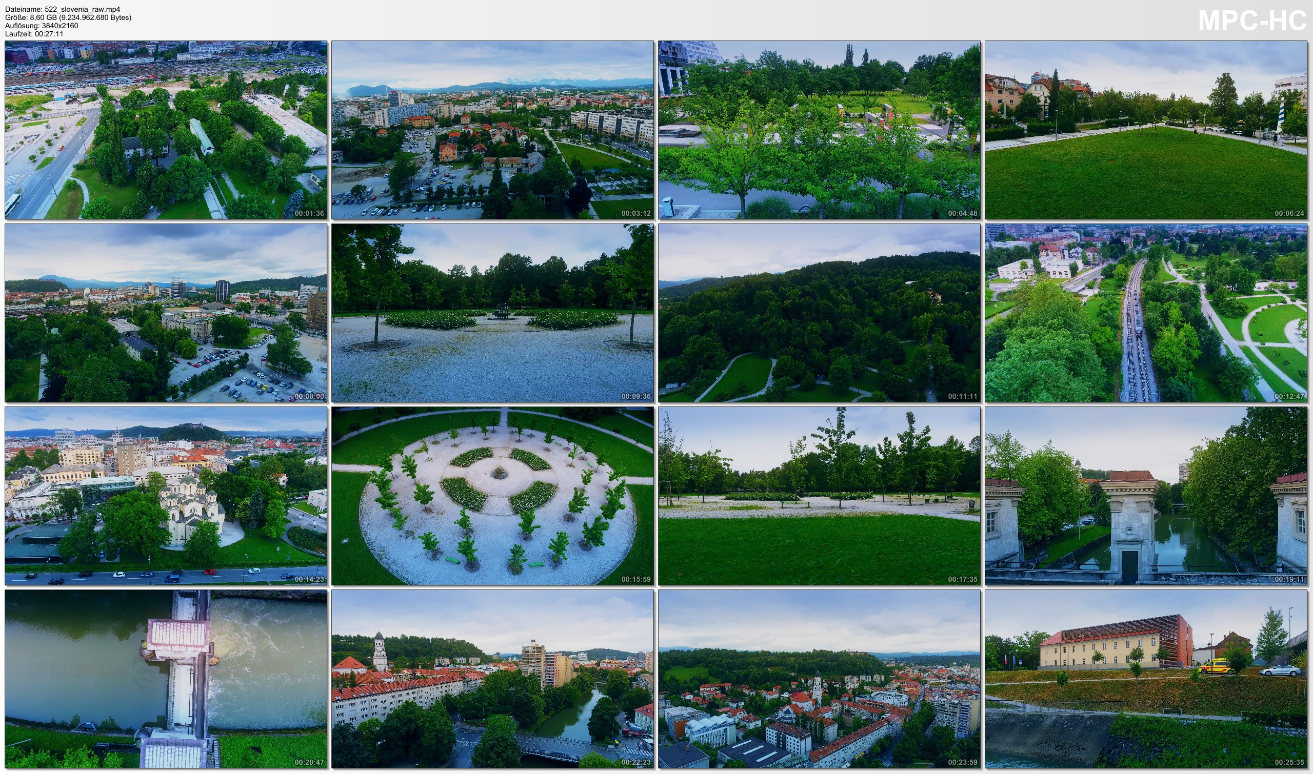 Drone Pictures from Video 【4K】Drone RAW Footage | This is SLOVENIA 2020 | Capital City Ljubljana | UltraHD Stock Video