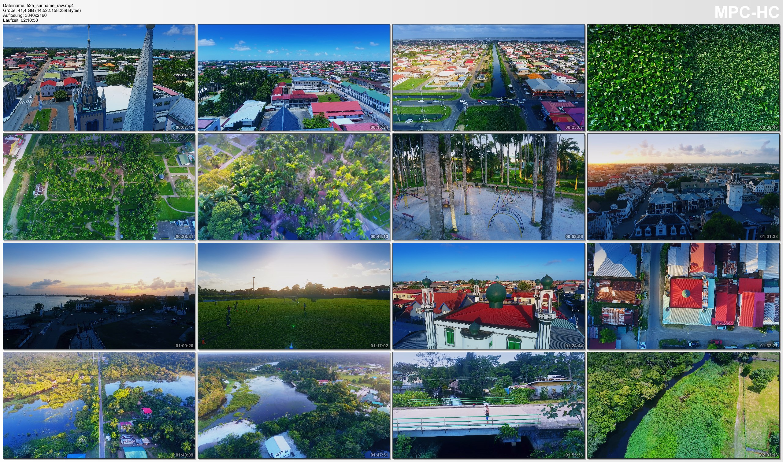 Drone Pictures from Video 【4K】Drone RAW Footage | This is SURINAME 2020 | Capital City Paramaribo & More | UltraHD Stock Video