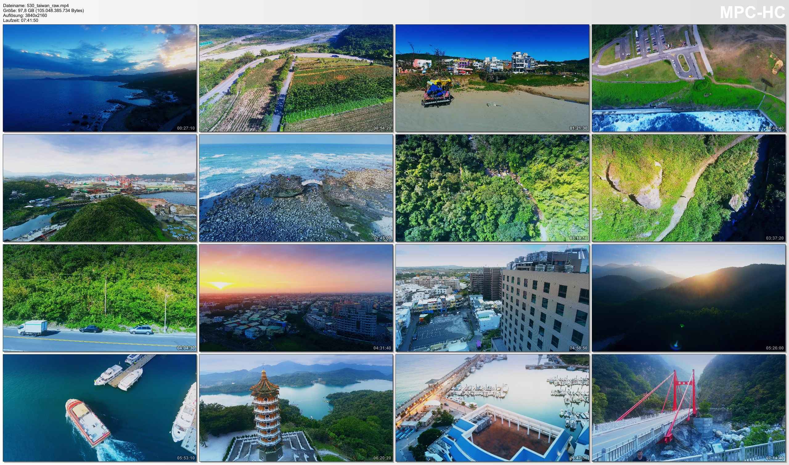 Drone Pictures from Video 【4K】Drone RAW Footage | This is TAIWAN 2020 | Taroko Gorge | Sun Moon Lake and More | UltraHD Stock