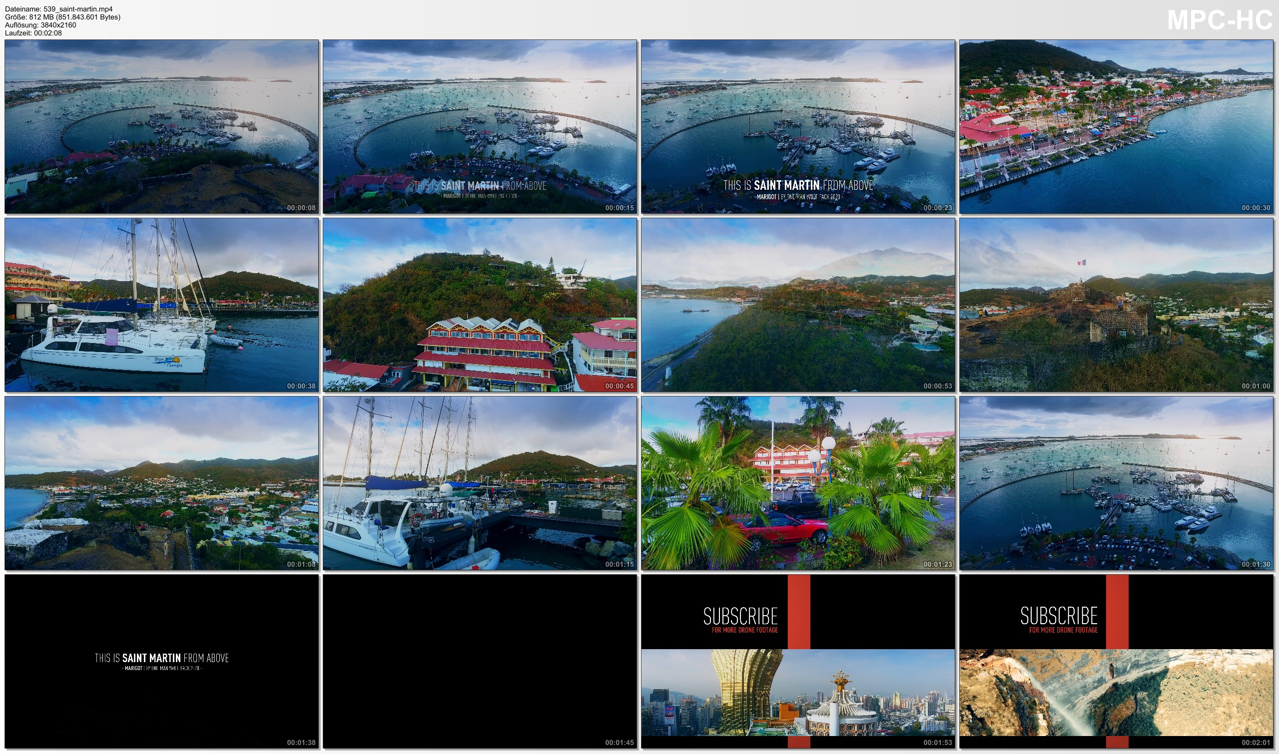 Drone Pictures from Video 【4K】SAINT MARTIN from Above 2020 | Capital City Marigot | Cinematic Wolf Aerial™ Drone Film