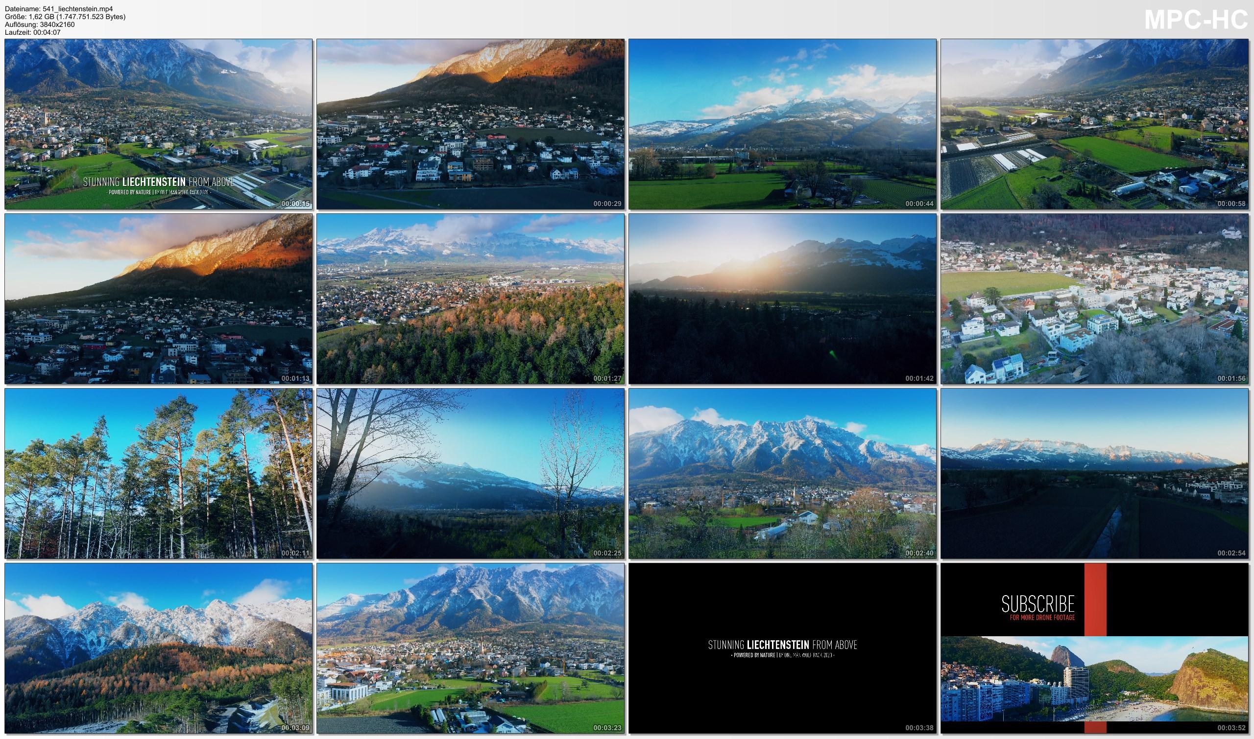 Drone Pictures from Video 【4K】Stunning LIECHTENSTEIN 2020 from Above | Cinematic Wolf Aerial™ Drone Film