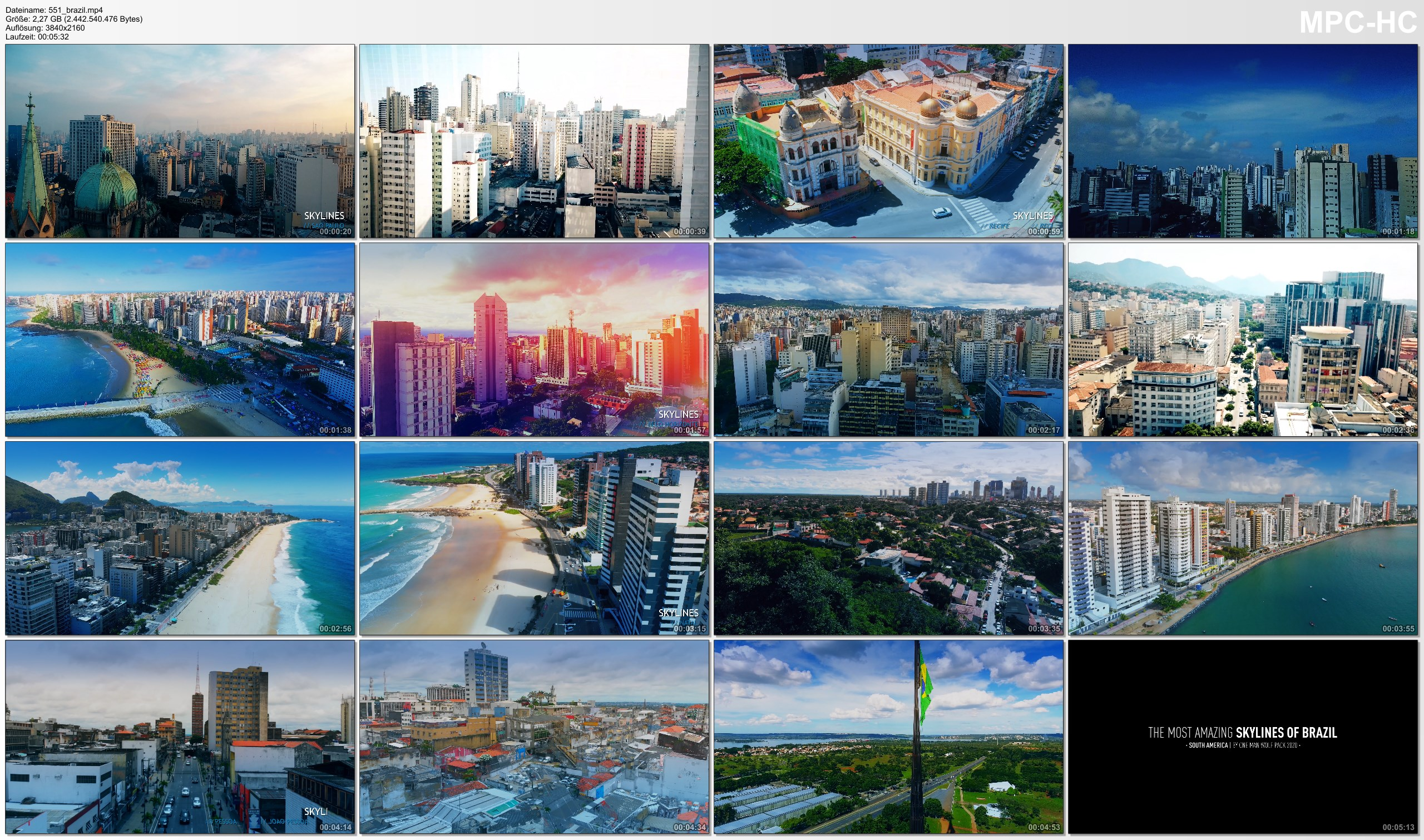 Drone Pictures from Video 【4K】The Most Amazing Skylines of BRAZIL 2020 | Cinematic Wolf Aerial™ Drone Film