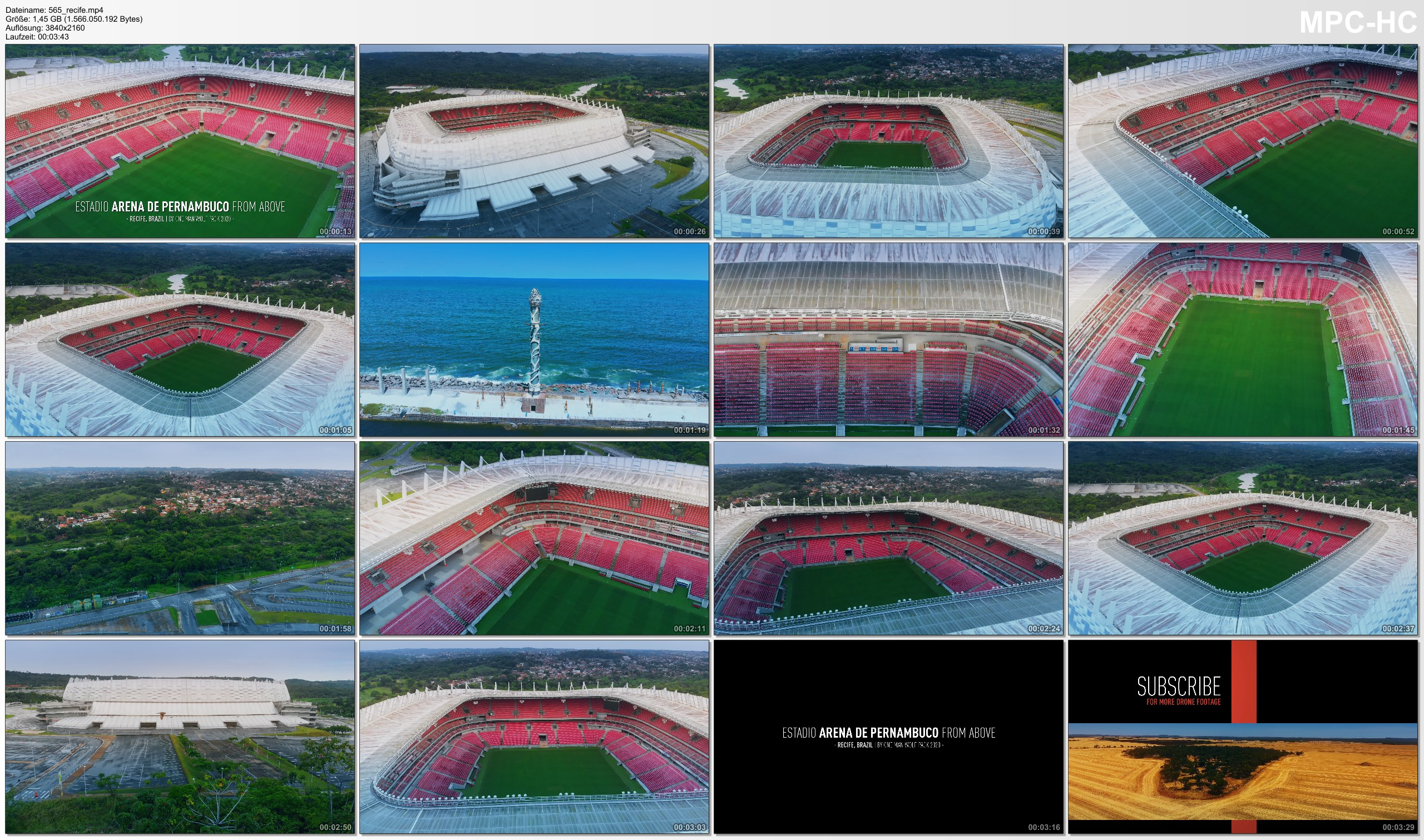 Drone Pictures from Video 【4K】Arena de Pernambuco from Above - BRAZIL 2020 | Cinematic Wolf Aerial™ Drone Film