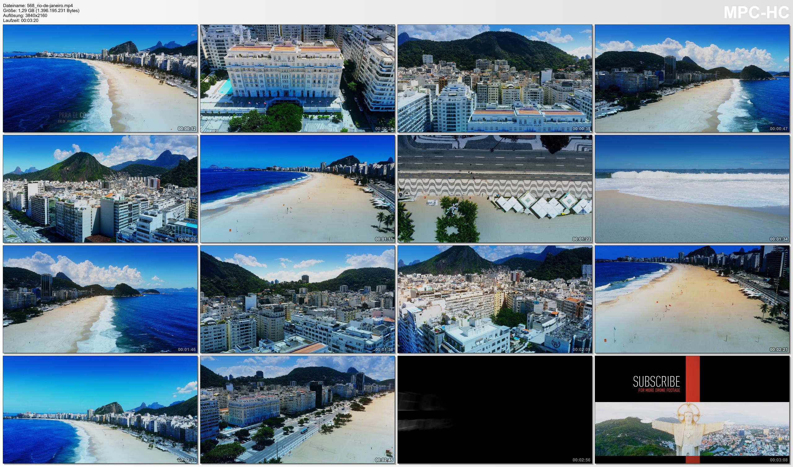 Drone Pictures from Video 【4K】Copacabana from Above | Times of Corona Virus BRAZIL 2020 | Rio de Janeiro Beach |March 23 Drone