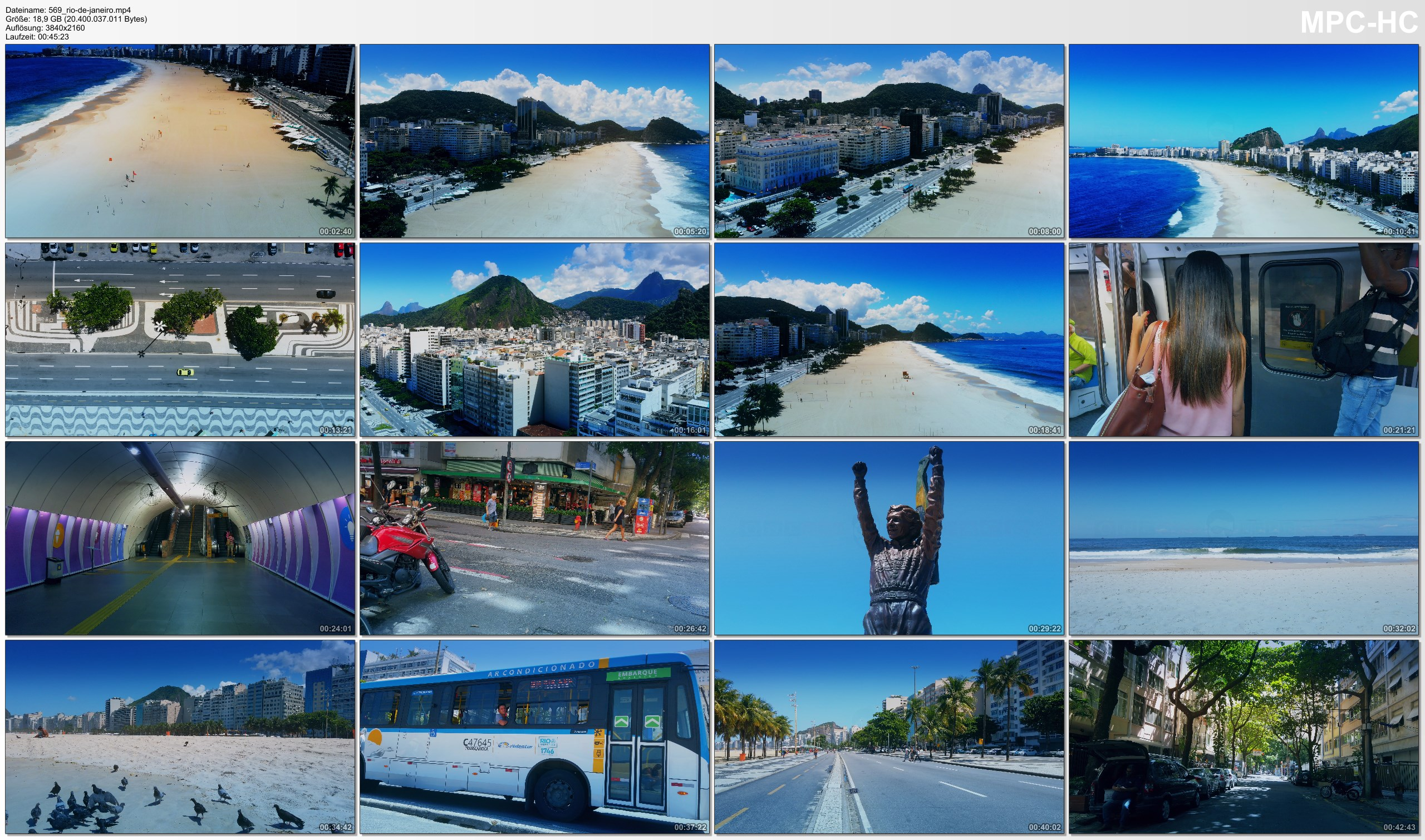 Drone Pictures from Video 【4K】Copacabana from Above   Rio de Janeiro Beach Drone Footage   Times of Corona Virus   BRAZIL 2020