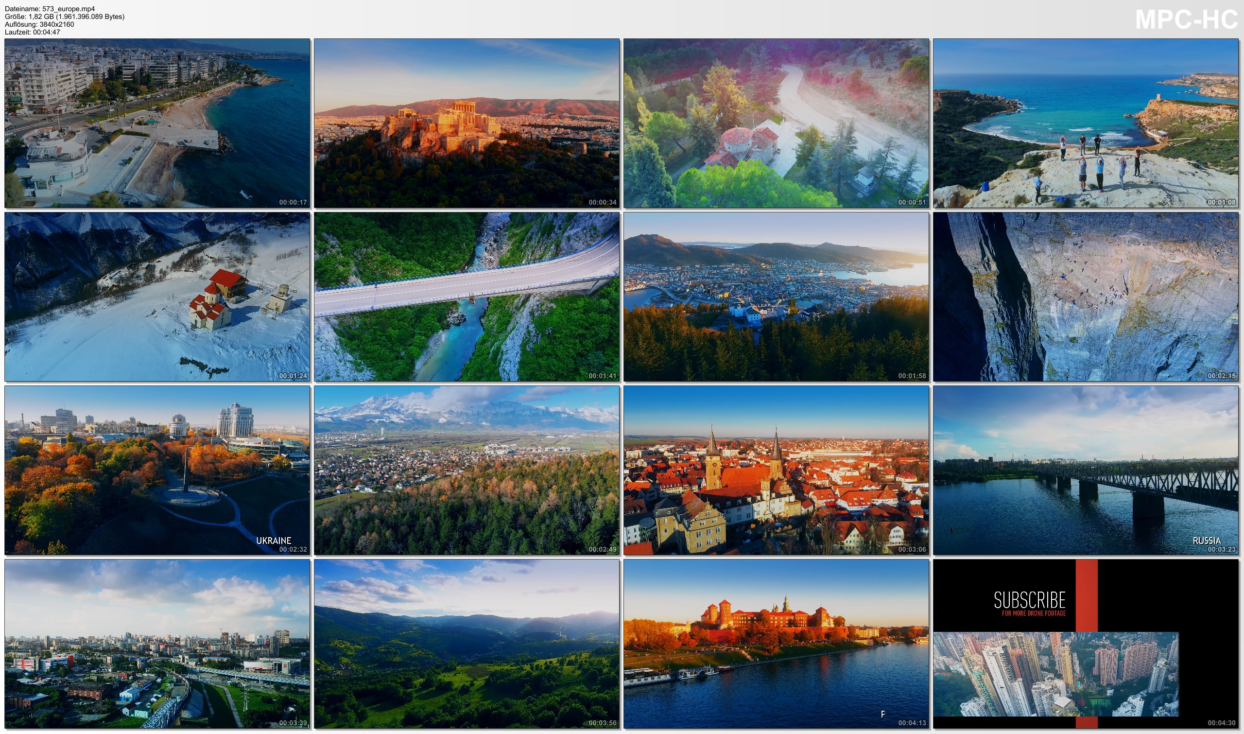 Drone Pictures from Video 【4K】The Beauty of EUROPE 2020   26 Countries from Above   Cinematic Wolf Aerial™ Drone Film