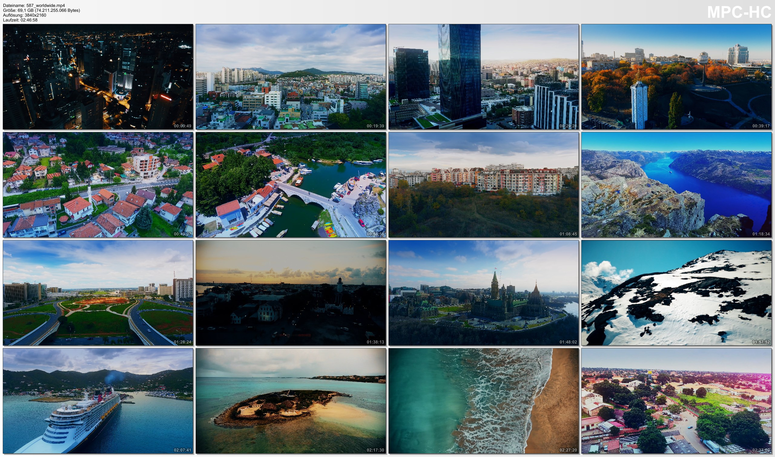 Drone Pictures from Video 【4K】48 Capitals of THE WORLD from Above | Cinematic Wolf Aerial™ Drone Film