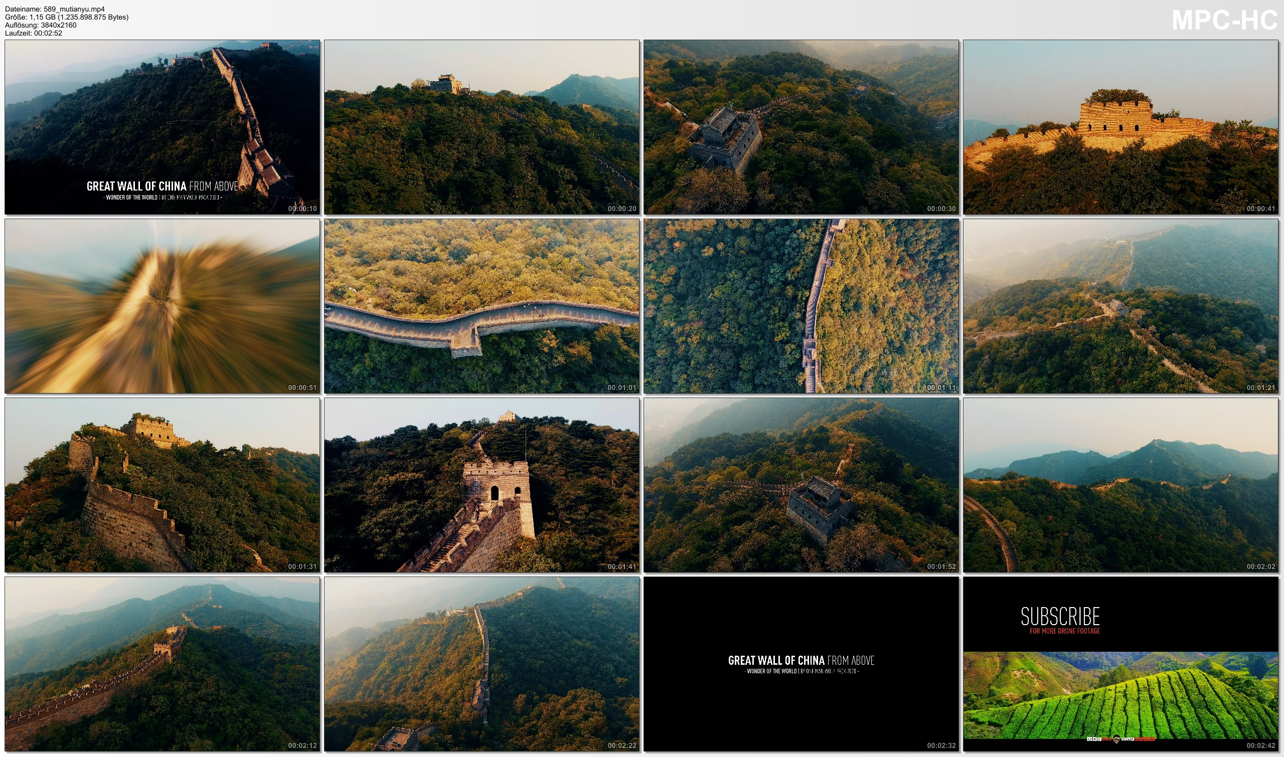 Drone Pictures from Video 【4K】The Great Wall of China from Above 2020 | Cinematic Wolf Aerial™ Drone Film