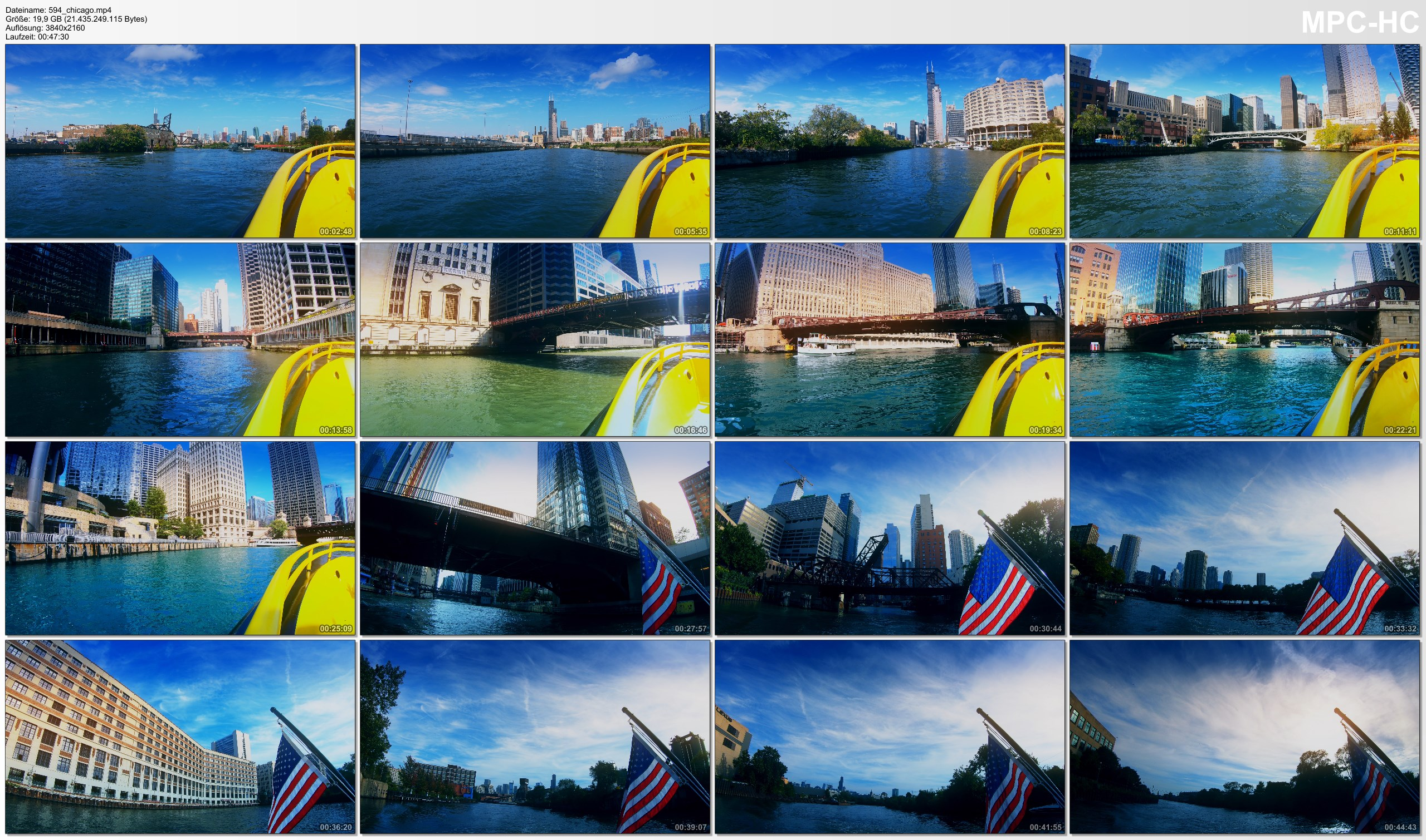 Pictures from Video 【4K】Full Ride with the Chicago Water Taxi   Chinatown to Goose Island   UltraHD Travel Video