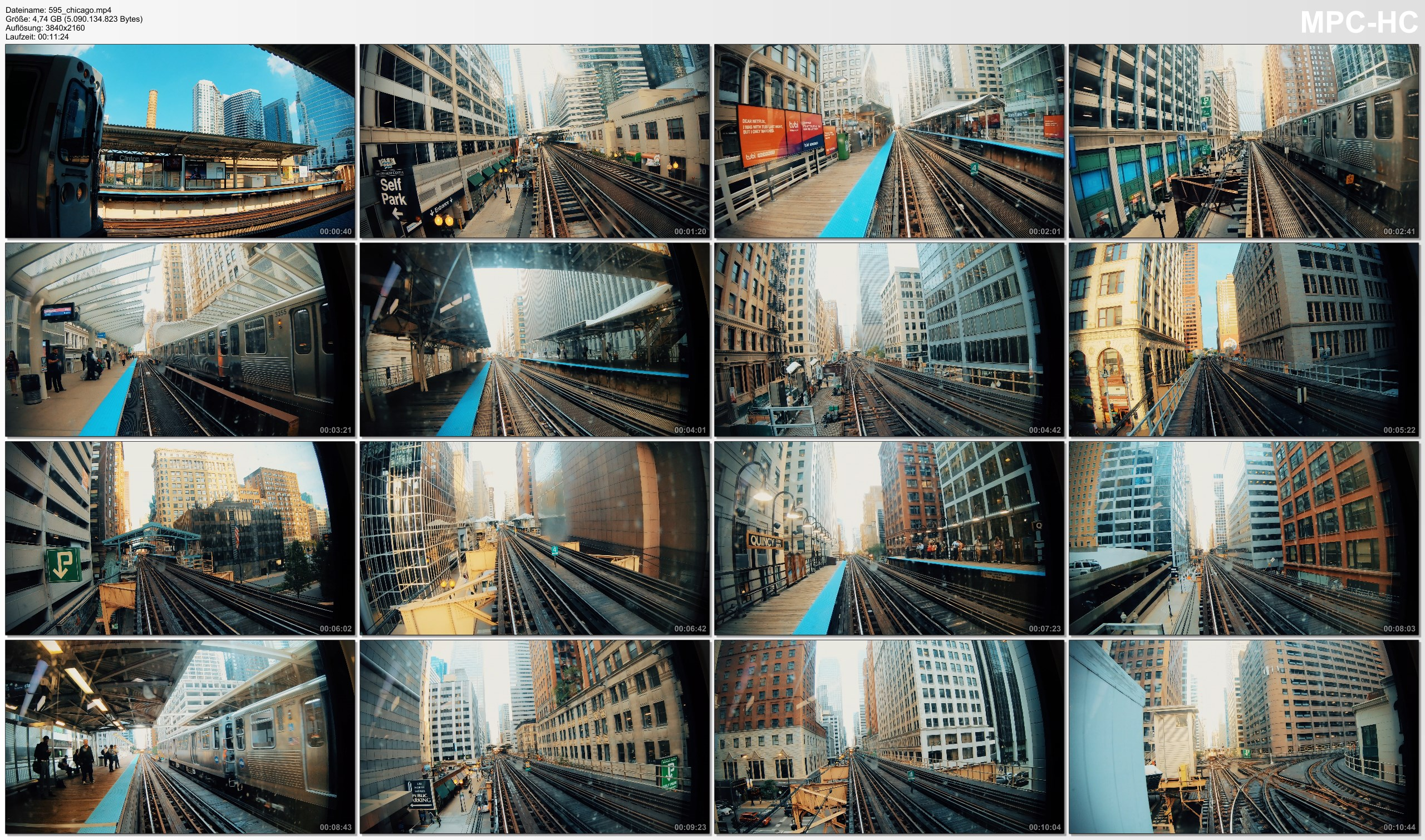 Pictures from Video 【4K】Riding The Loop | Chicago, Illinois | Full Circle CTA L | Cut out Stops | UltraHD Travel Video
