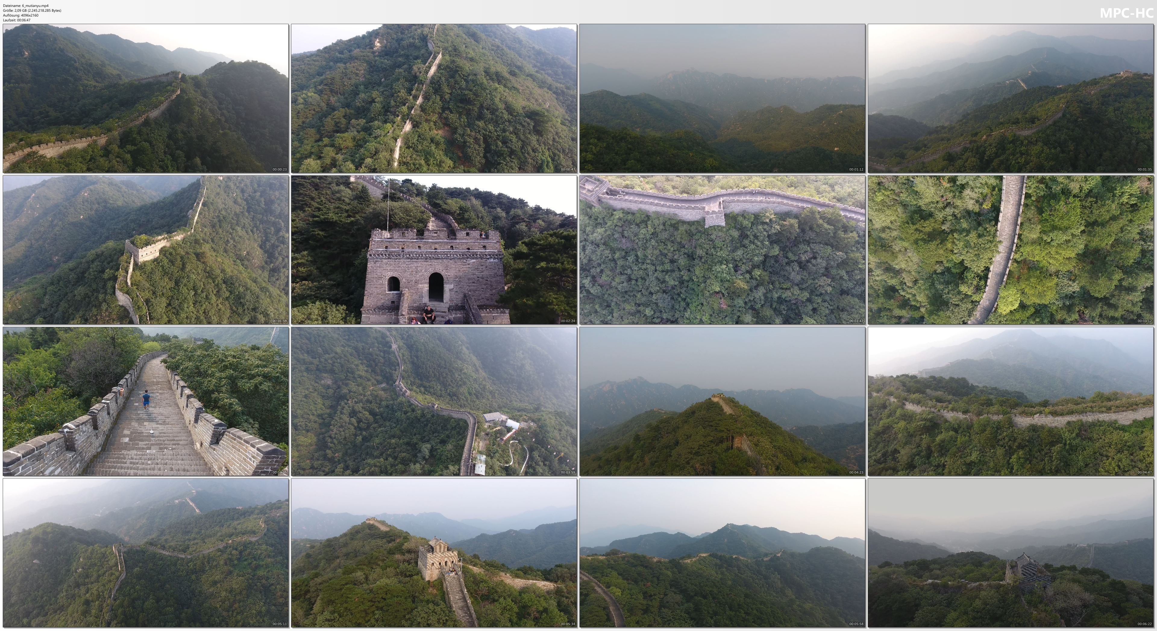 Drone Pictures from Video 4K Drone Footage GREAT WALL OF CHINA in Mutianyu [DJI Phantom 4]