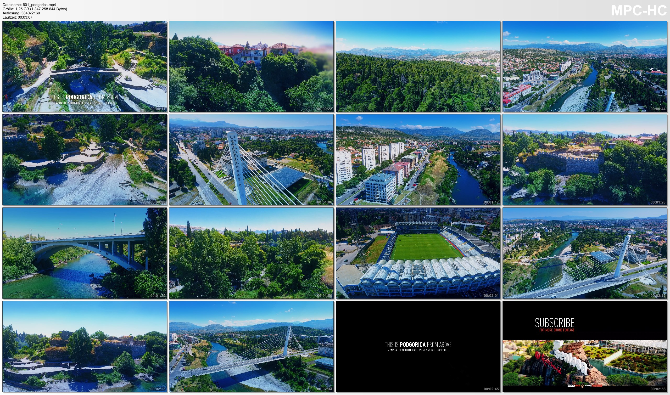 Drone Pictures from Video 【4K】Podgorica from Above - Capital of MONTENEGRO 2020   Cinematic Wolf Aerial™ Drone Film