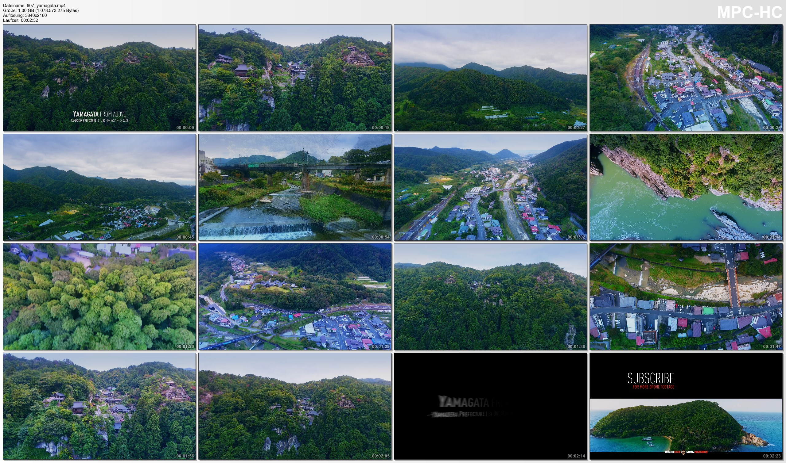 Drone Pictures from Video 【4K】Yamadera from Above - JAPAN 2020 | Risshaku-ji Temple | Cinematic Wolf Aerial™ Drone Film