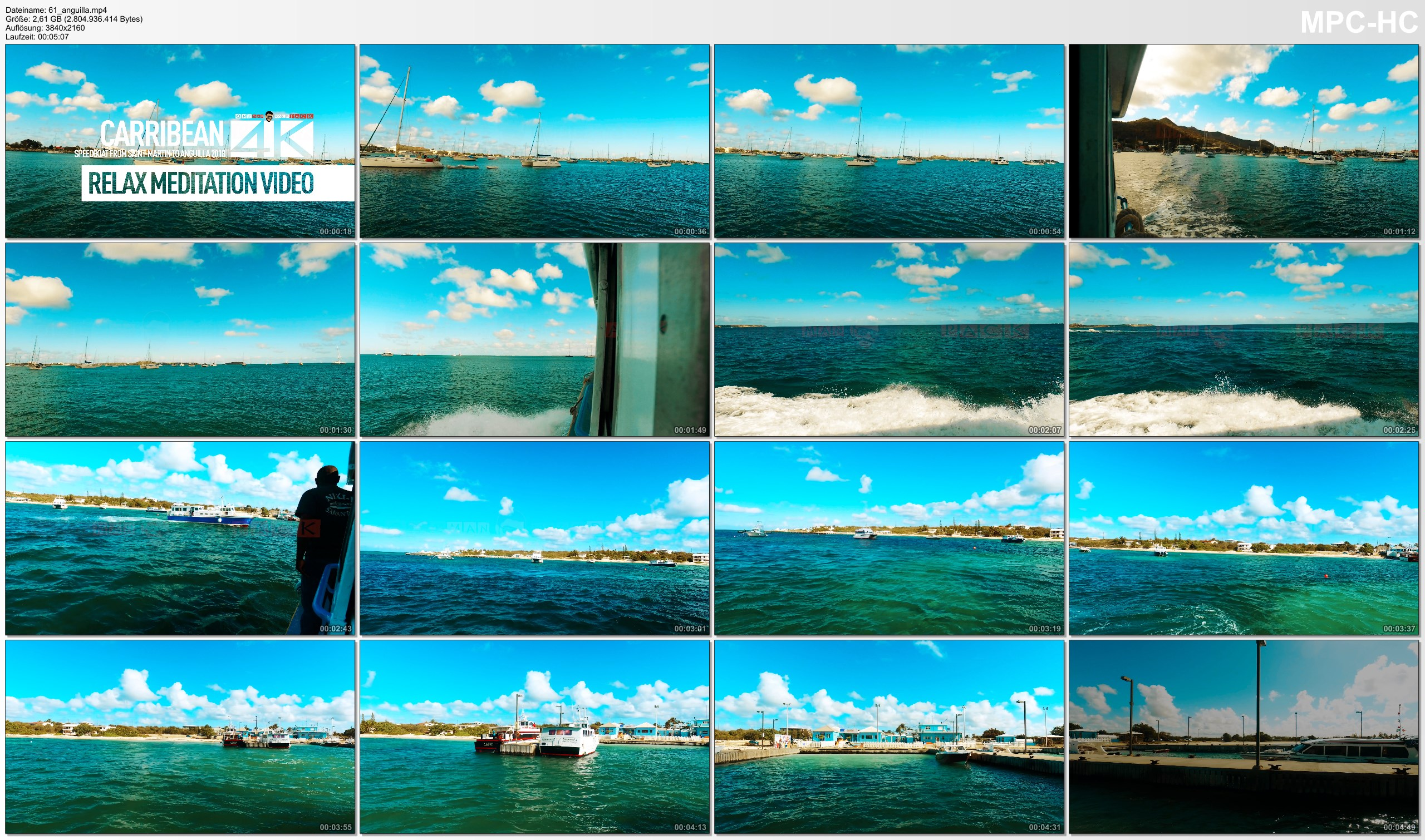 Pictures from Video 【4K】Footage   Sailing from SAINT-MARTIN to ANGUILLA ..:: Caribbean 2017