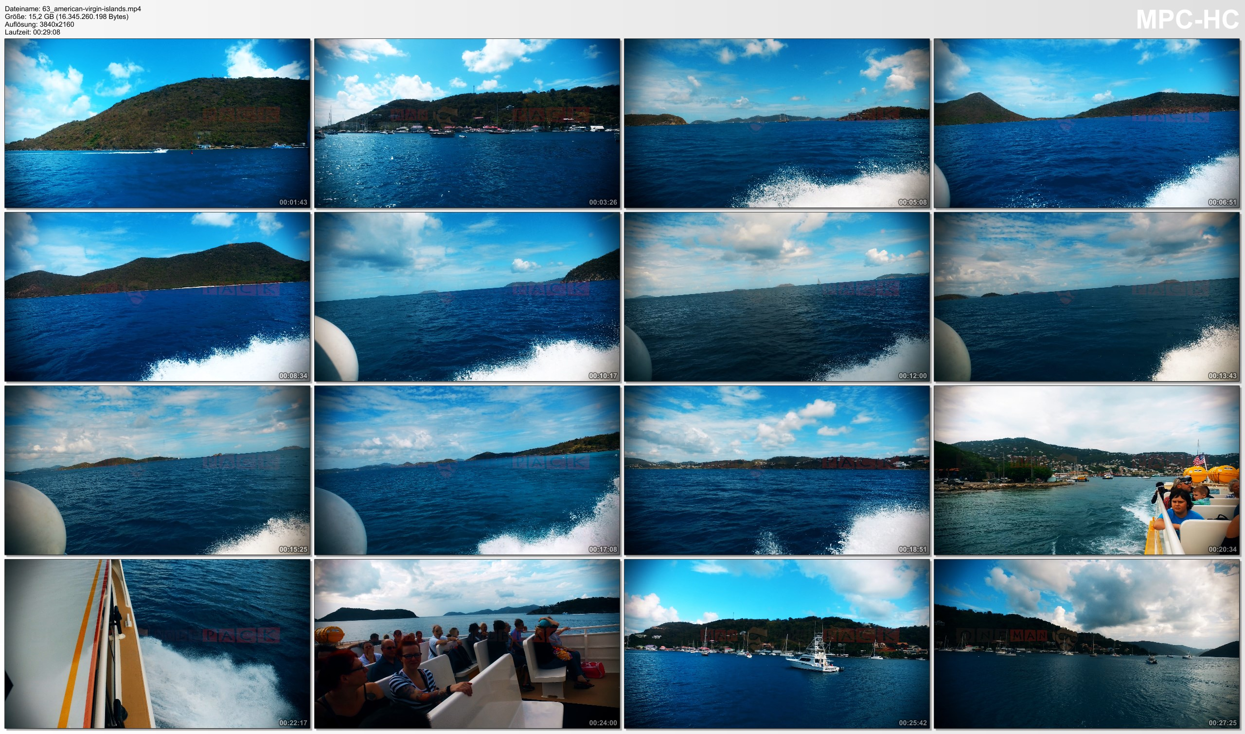 Pictures from Video 【4K】Footage | Boating from AMERICAN VIRGIN ISLANDS to BVI ..:: Caribbean 2017
