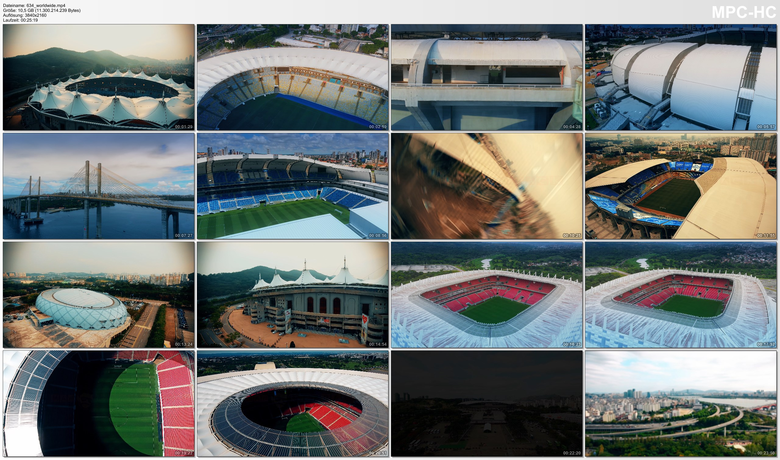 Drone Pictures from Video 【4K】7 FIFA World Cup Stadiums of the World from Above | 2020 | Cinematic Wolf Aerial™ Drone Film