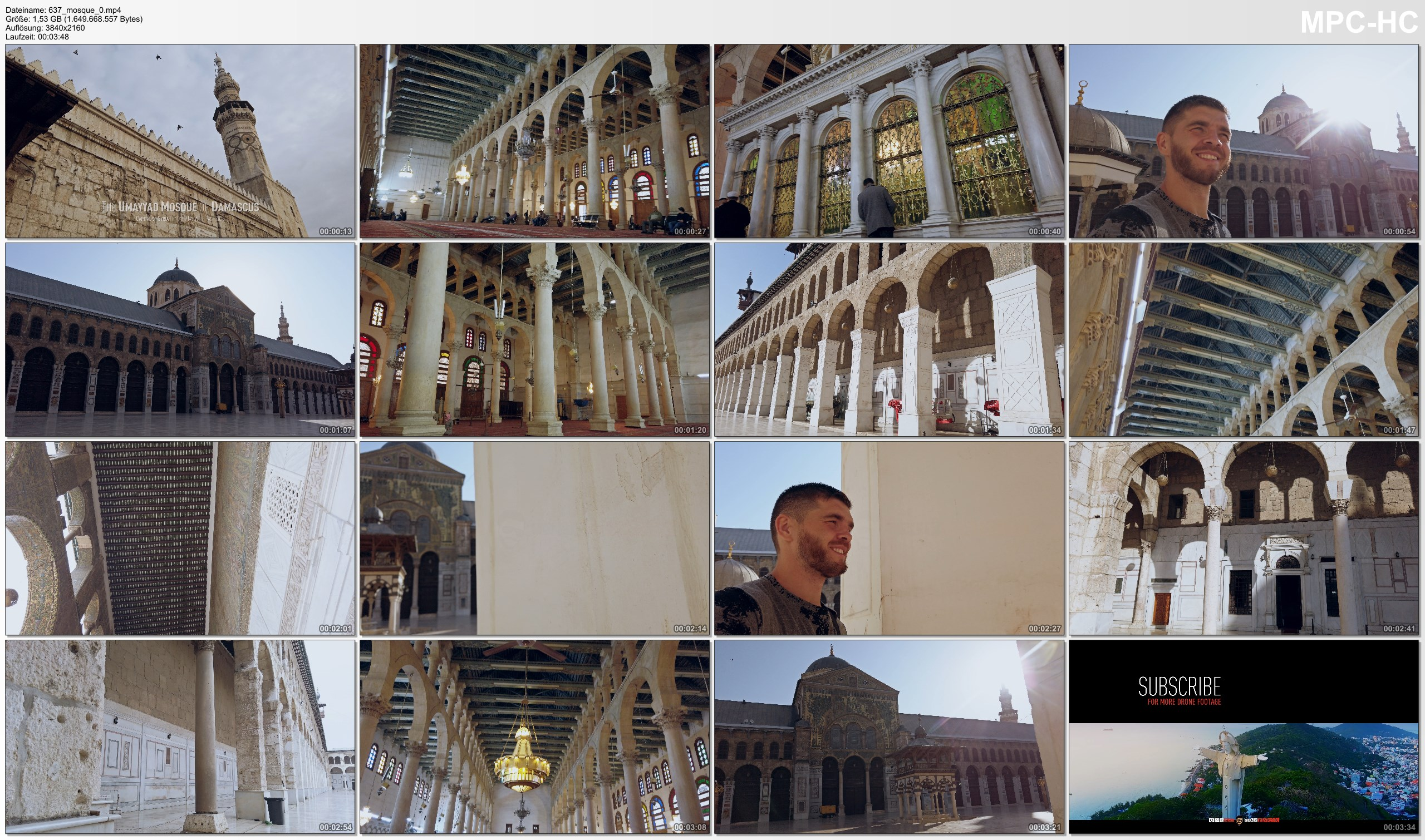 Pictures from Video 【4K】The Great Mosque of Damascus - SYRIA 2020 | Umayyad Mosque الجامع الأموي