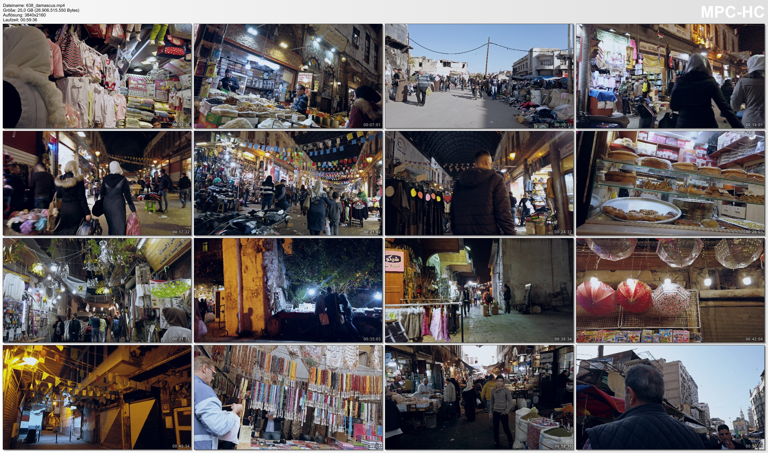 Pictures from Video 【4K】Virtual Walking Tour | Damascus - SYRIA 2020 | Al-Hamidiyah Souq Market with Street Sounds دمشق