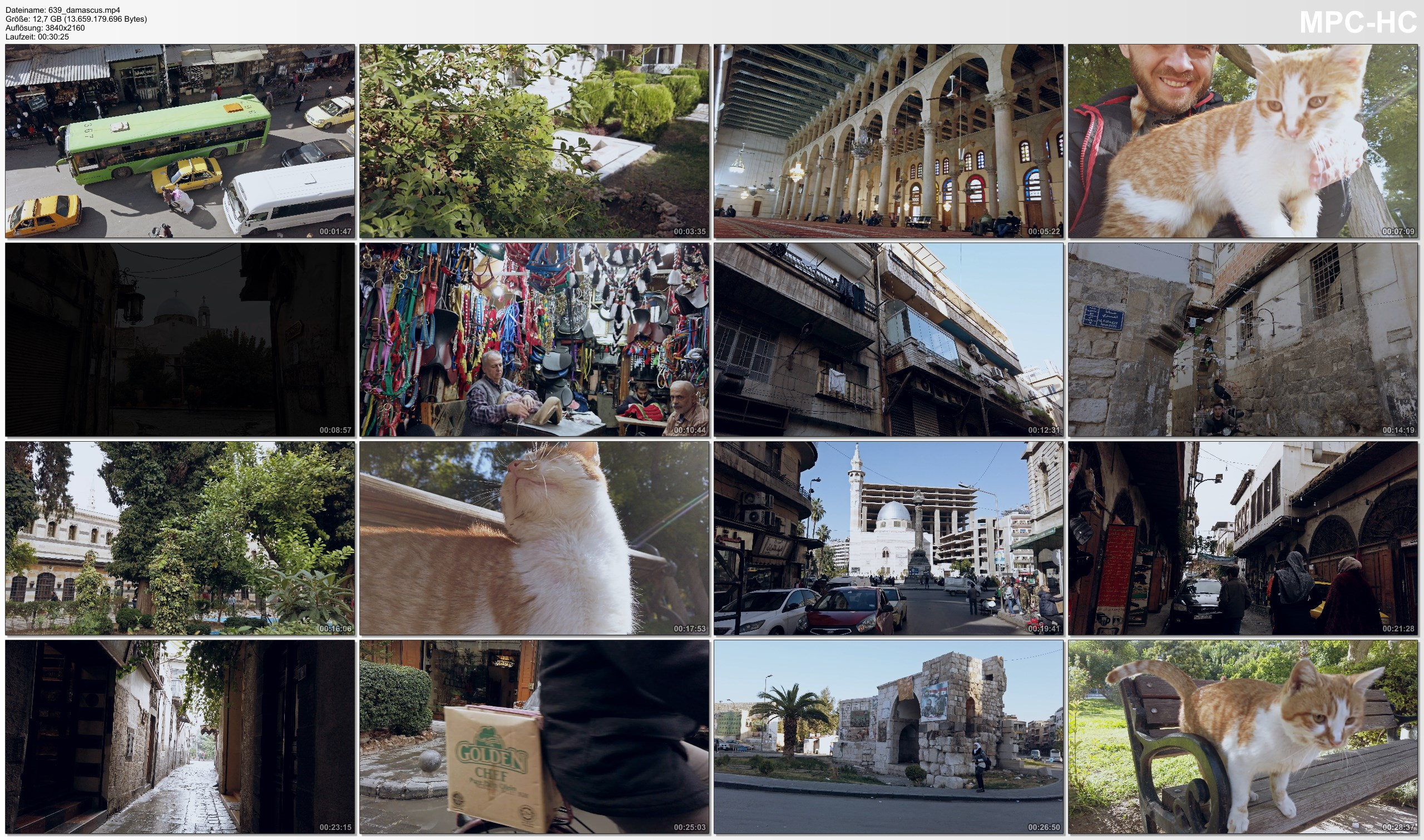Pictures from Video 【4K】Virtual Walking Tour | Damascus - SYRIA 2020 | City Street Scenes UltraHD Travel Video دمشق