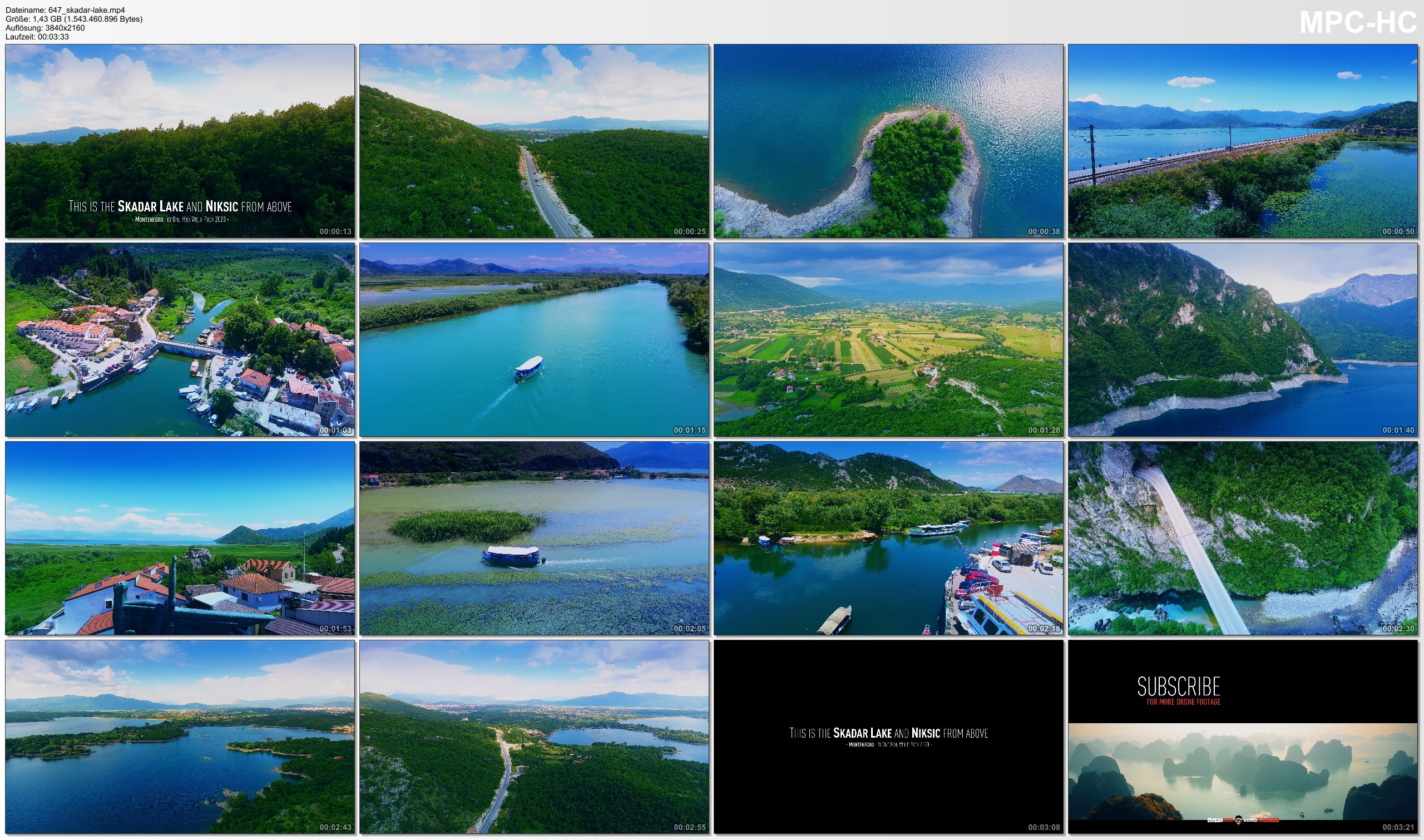 Drone Pictures from Video 【4K】Lake Skadar from Above - MONTENEGRO 2020 | Cinematic Wolf Aerial™ Drone Film
