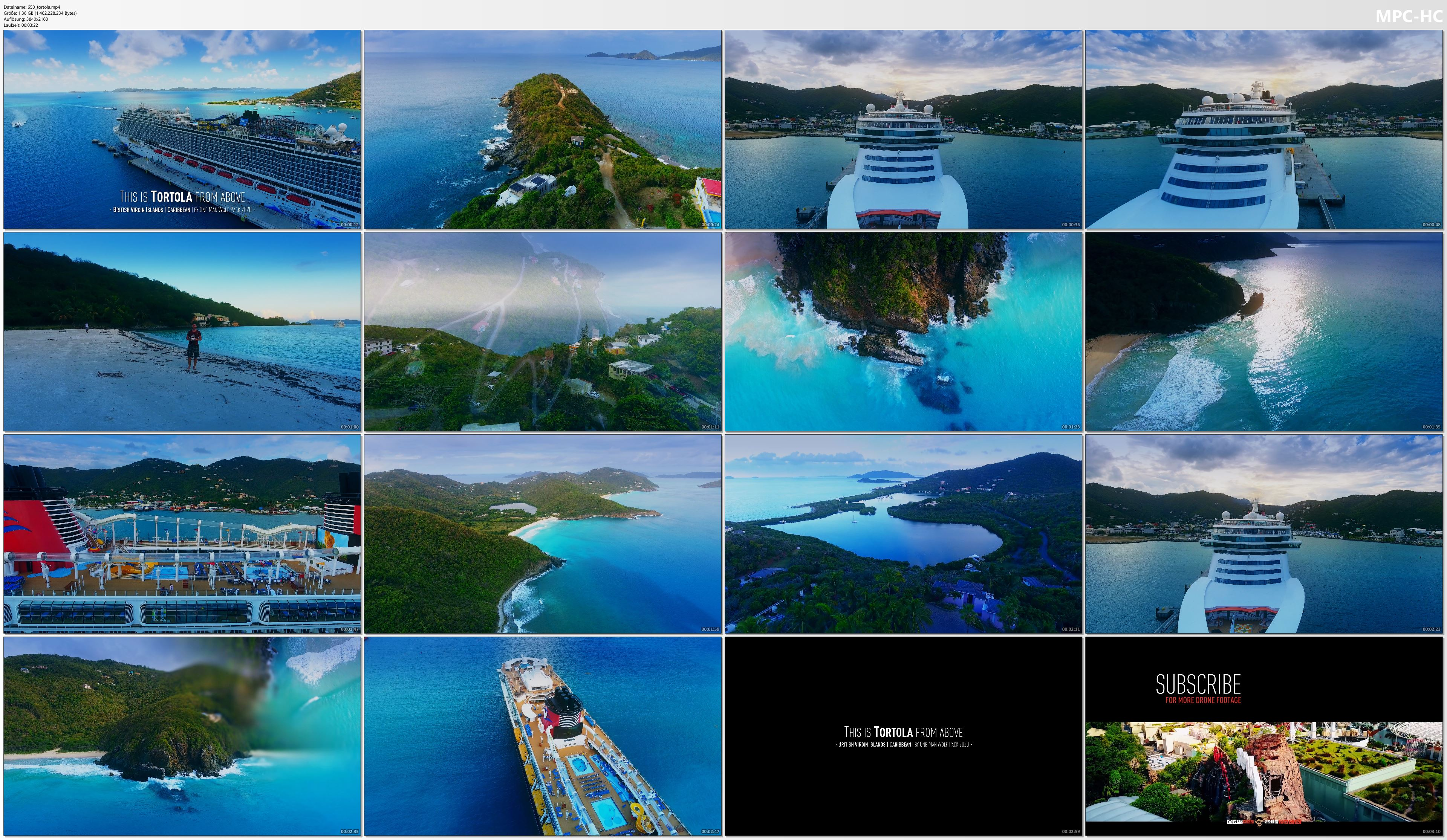 Drone Pictures from Video 【4K】Tortola from Above - BRITISH VIRGIN ISLANDS 2020   Cinematic Wolf Aerial™ Drone Film