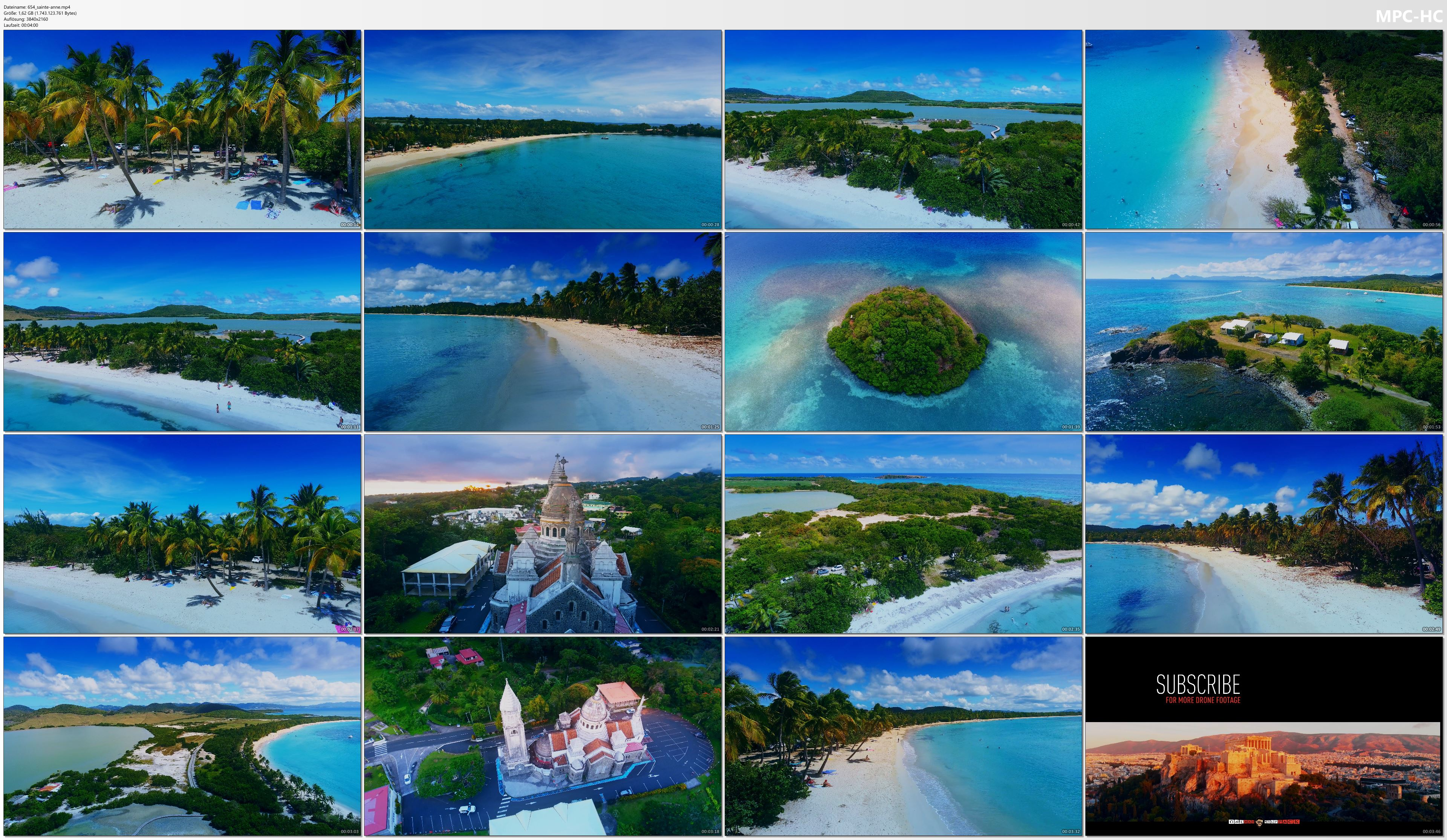 Drone Pictures from Video 【4K】Beach of Sainte-Anne from Above - MARTINIQUE 2020 | Cinematic Wolf Aerial™ Drone Film
