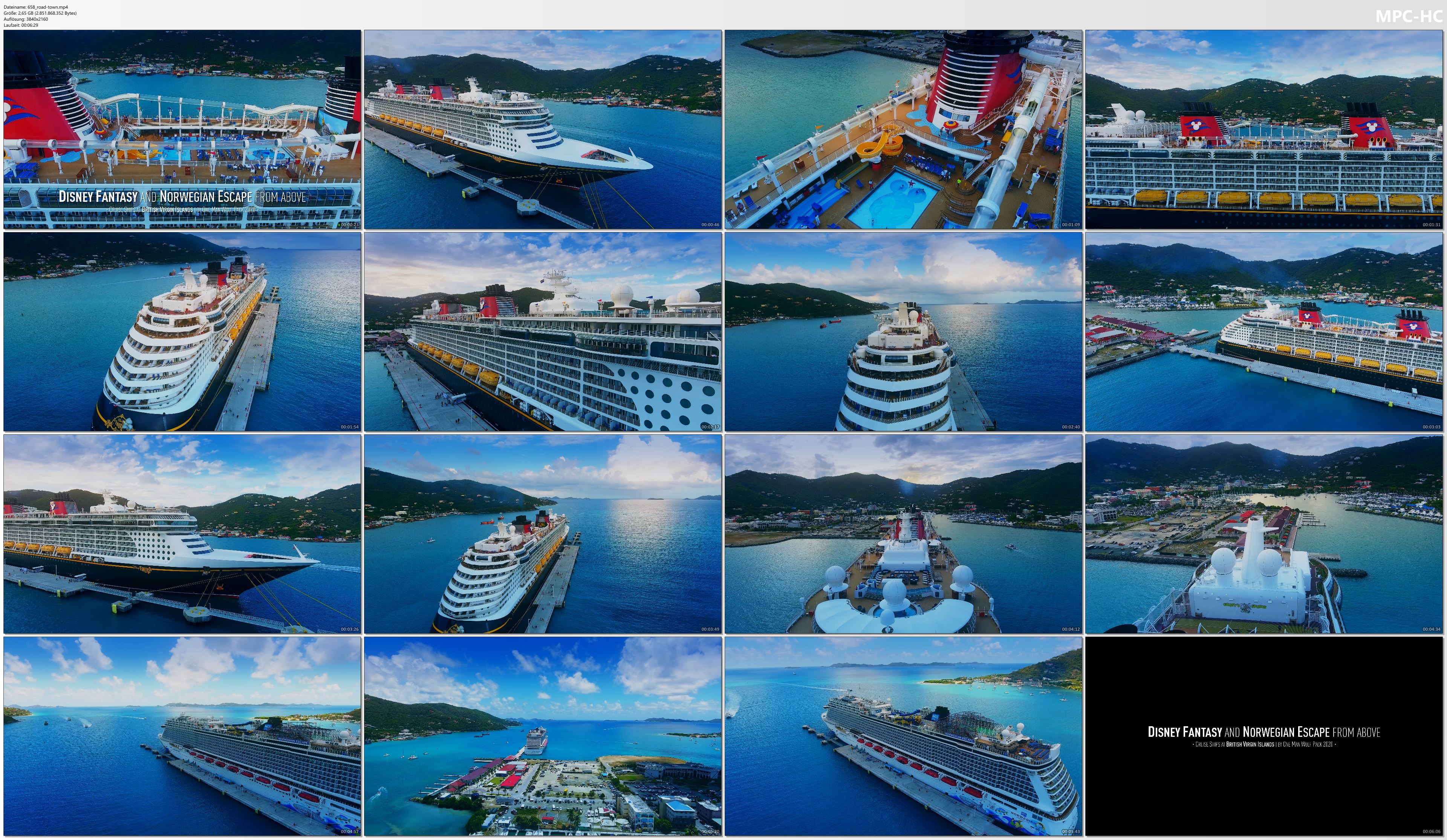 Drone Pictures from Video 【4K】CRUISE SHIPS from Above | Disney Fantasy & Norwegian Escape 2020 | BVI | Cinematic Wolf Aerial™