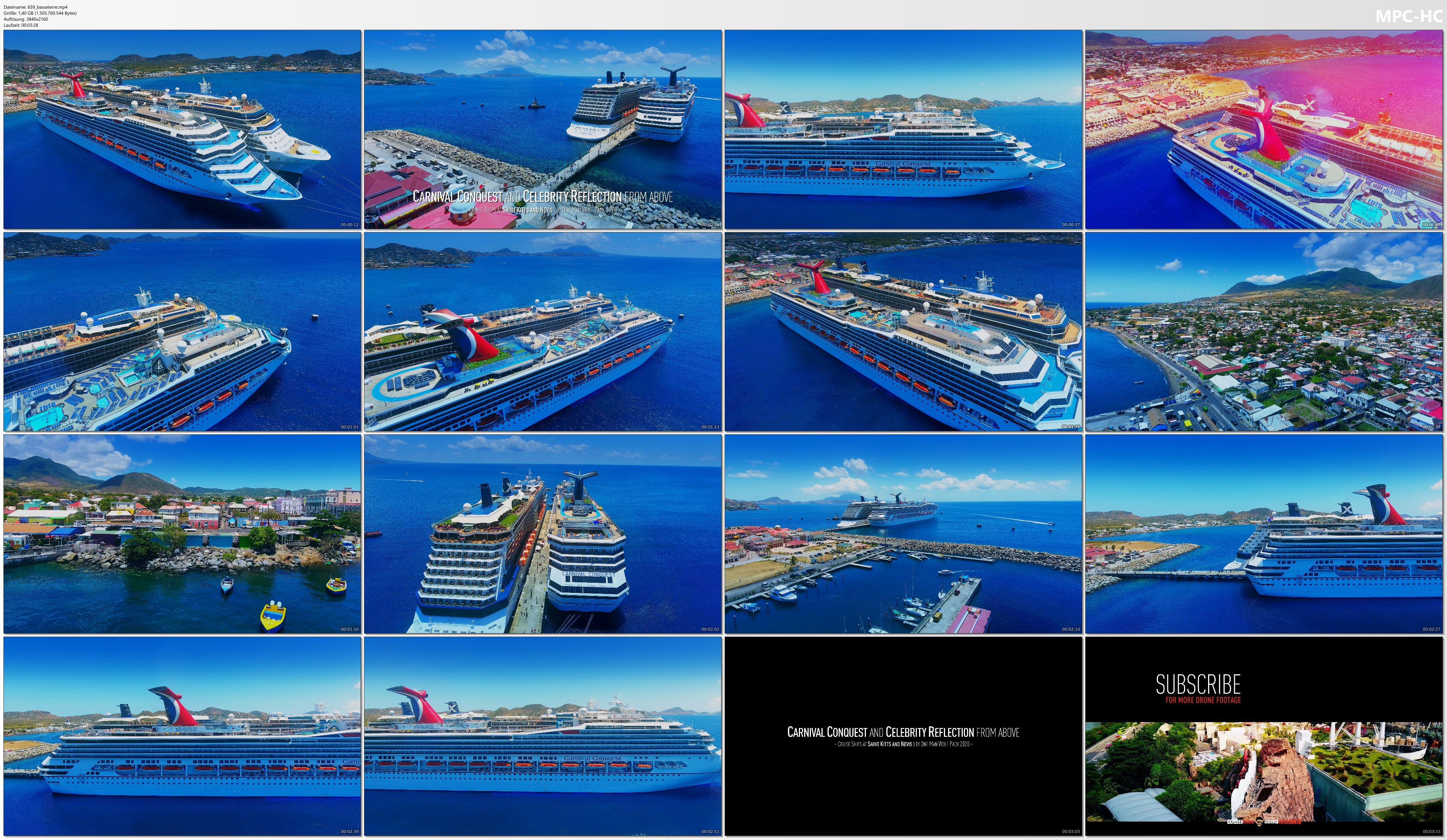 Drone Pictures from Video 【4K】CRUISE SHIPS from Above | Carnival Conquest & Celebrity Reflection | St. Kitts Cinematic Aerial™