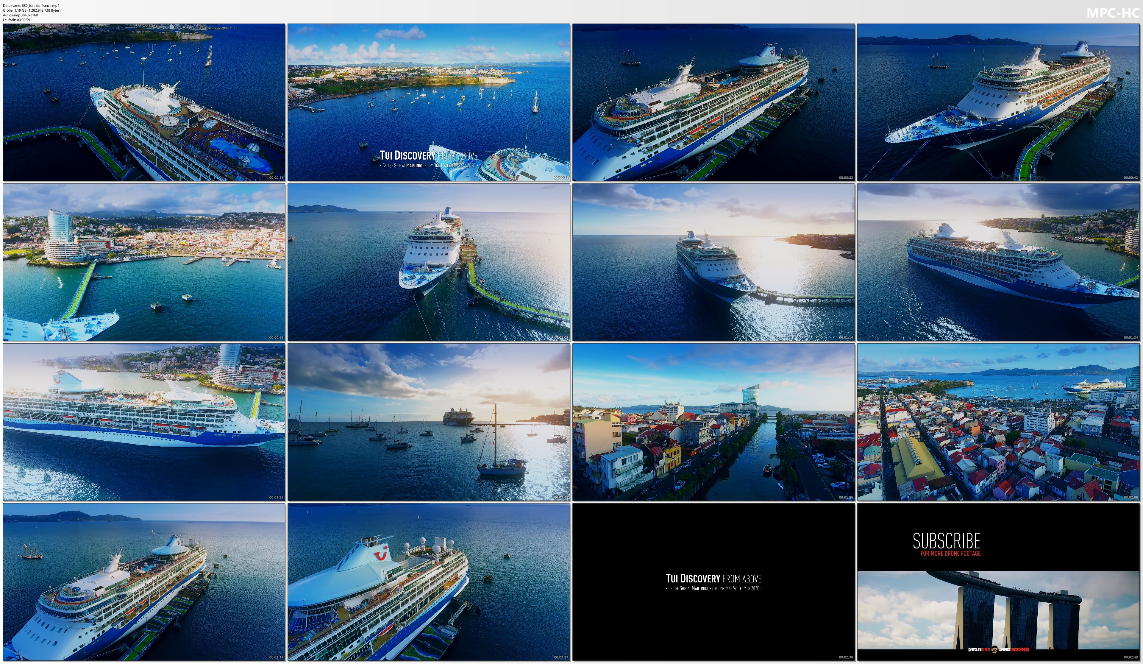 Drone Pictures from Video 【4K】CRUISE SHIPS from Above | Marella / TUI Discovery 2020 | Martinique | Cinematic Wolf Aerial™