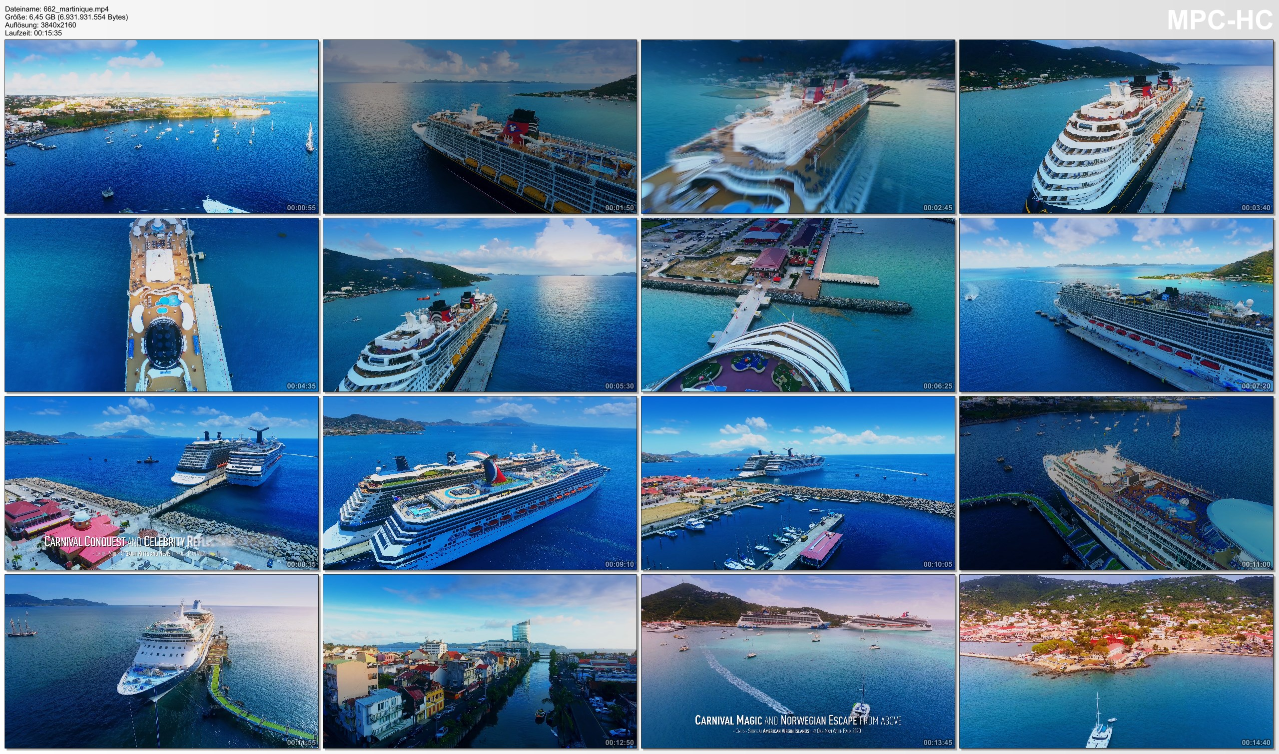 Drone Pictures from Video 【4K】6 Cruise Ships from Above - CARIBBEAN 2020 | Cinematic Wolf Aerial™ Drone Film