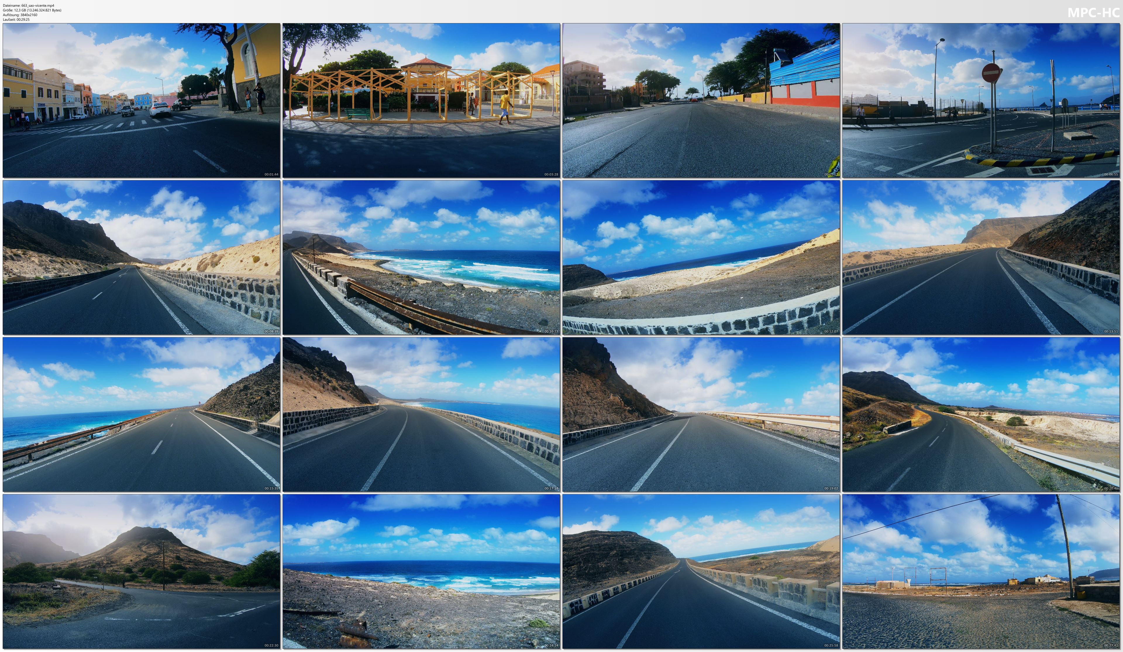 Pictures from Video 【4K】30 MINUTES | Driving São Vicente (Cape Verde) on a Motorbike | 2020 | Mindelo | UltraHD Video