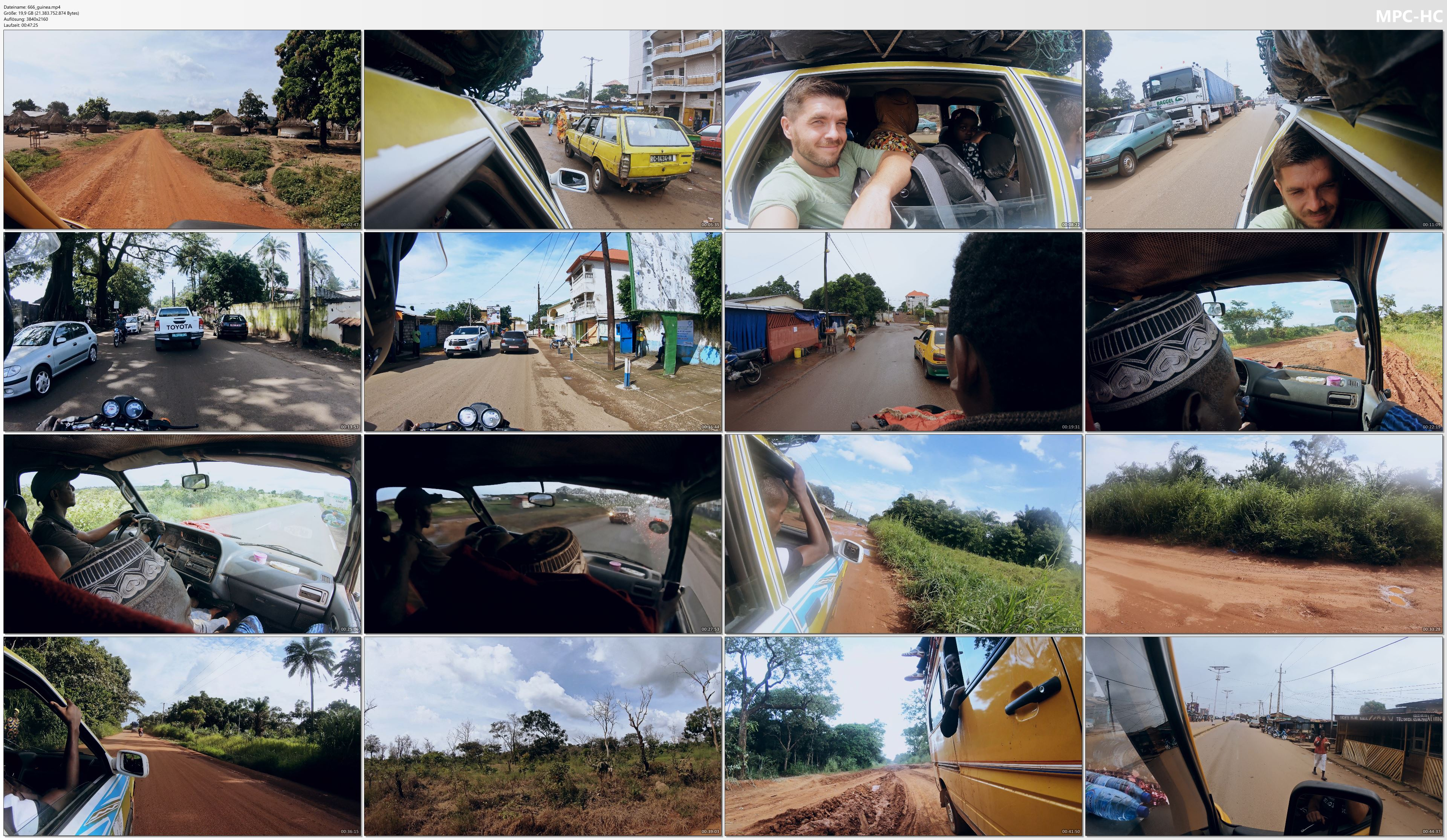 Pictures from Video 【4K】48 MINUTES | Driving Guinea (West Africa) | 2020 | Conakry | UltraHD Travel Video