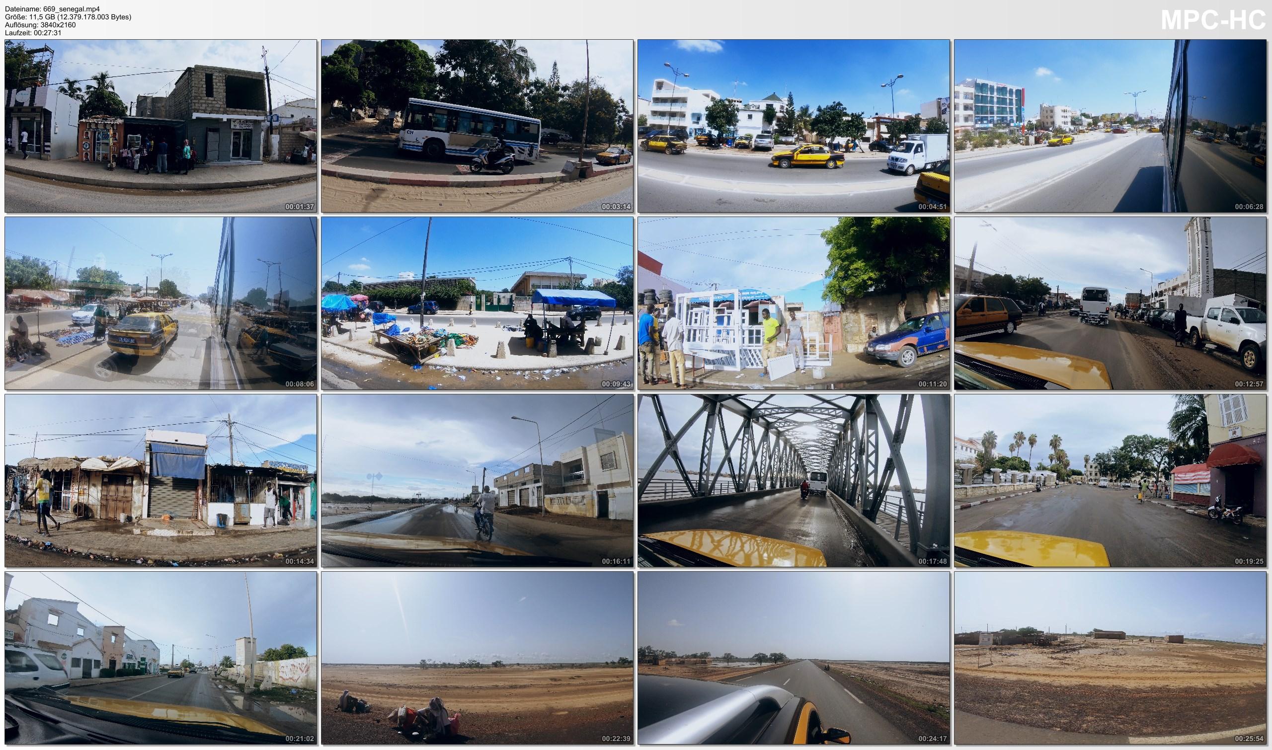 Pictures from Video 【4K】28 MINUTES | Driving Senegal (West Africa) | 2020 | Dakar | Saint-Louis | UltraHD Travel Video