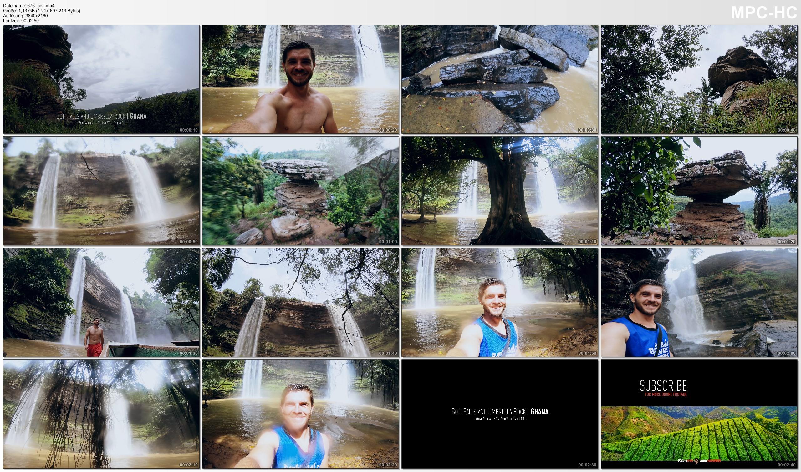 Pictures from Video 【4K】The Boti Falls and Umbrella Rock (Ghana) | 2020 | UltraHD Travel Video