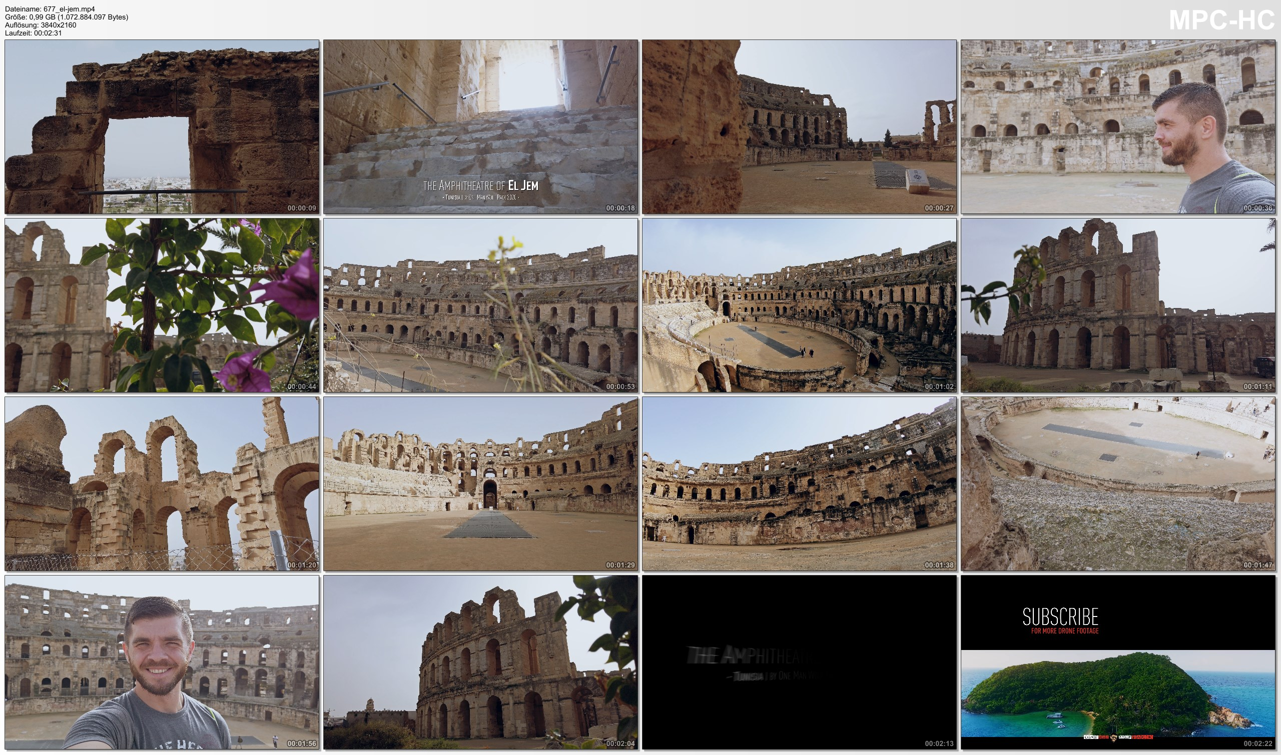 Pictures from Video 【4K】The Amphitheatre of El Jem (Tunisia) | 2020 | UltraHD Travel Video