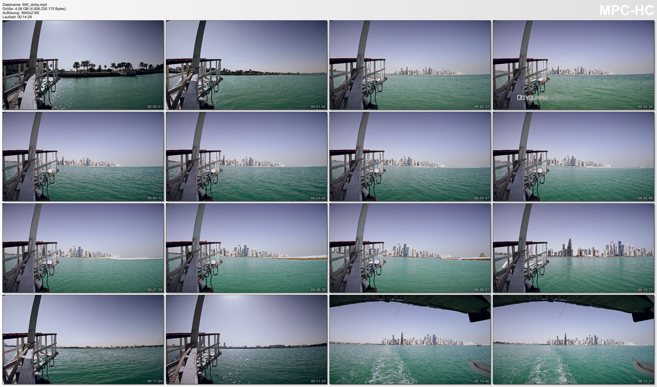 Pictures from Video 【4K】Sunshine Boat Round Trip facing the Skyline of Doha (Qatar) 2020 | UltraHD Travel Video